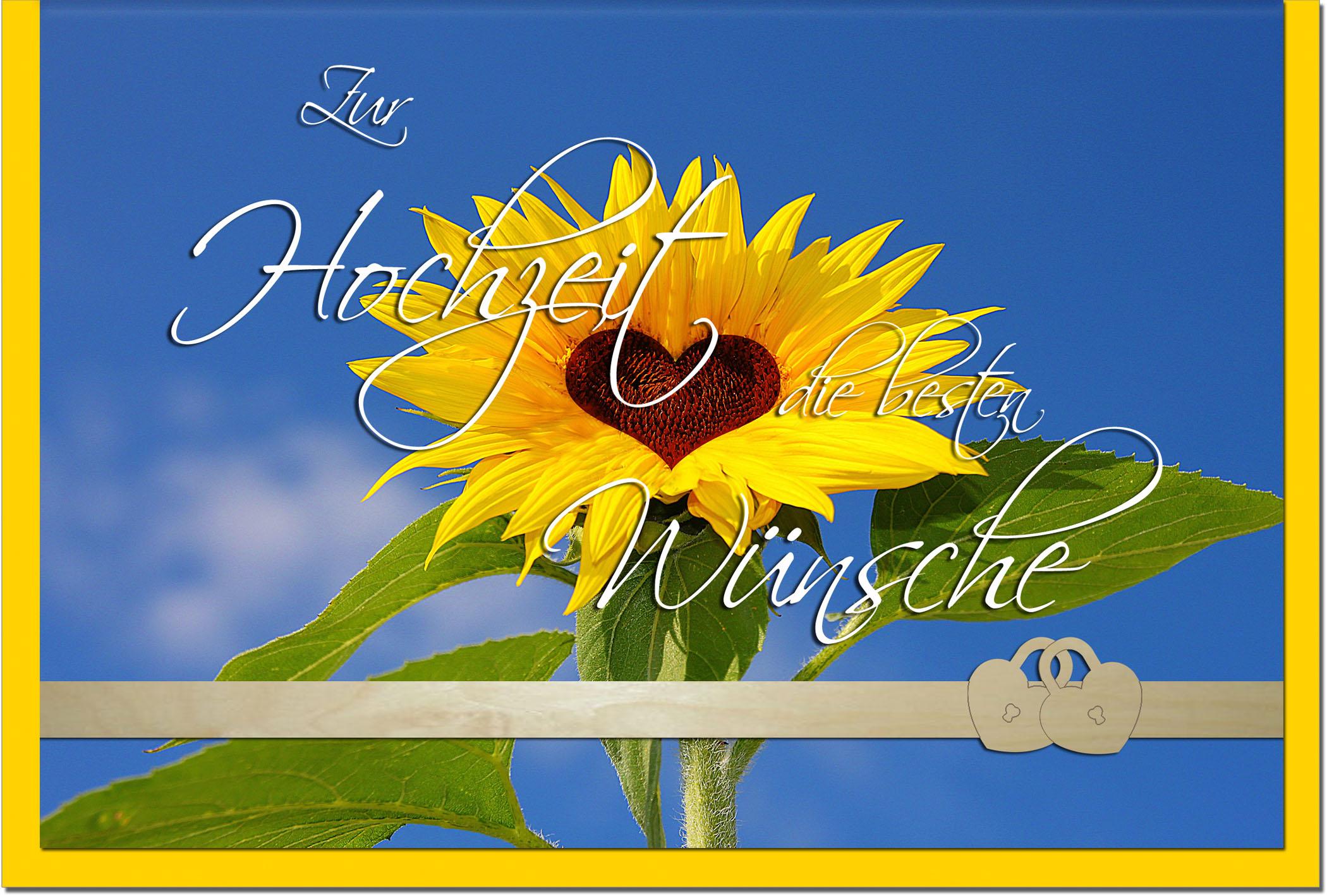 Hochzeitskarten / Grußkarten /Hochzeit Sonnenblume