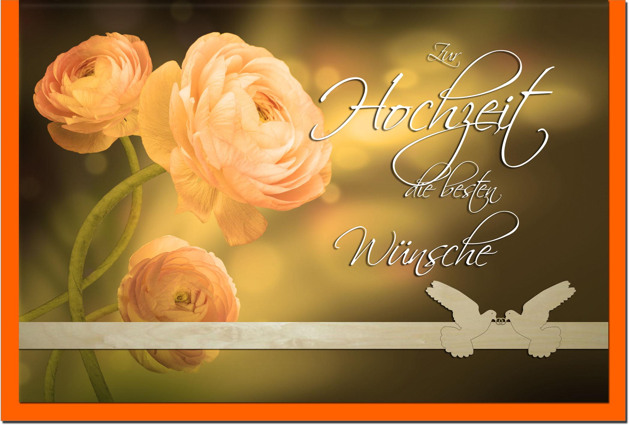 Hochzeitskarten / Grußkarten /Hochzeit Rosen