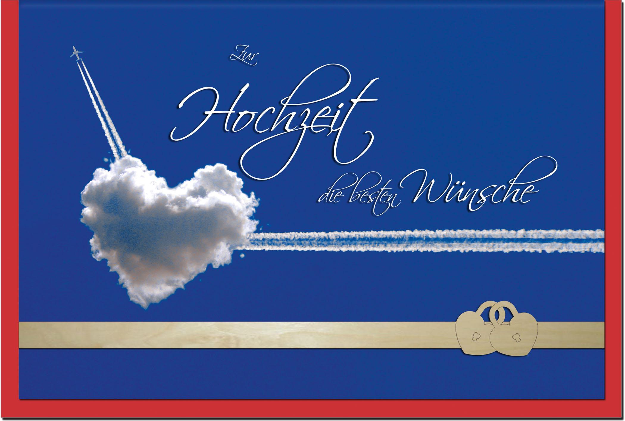 Hochzeitskarten / Grußkarten /Hochzeit Wolkenherz