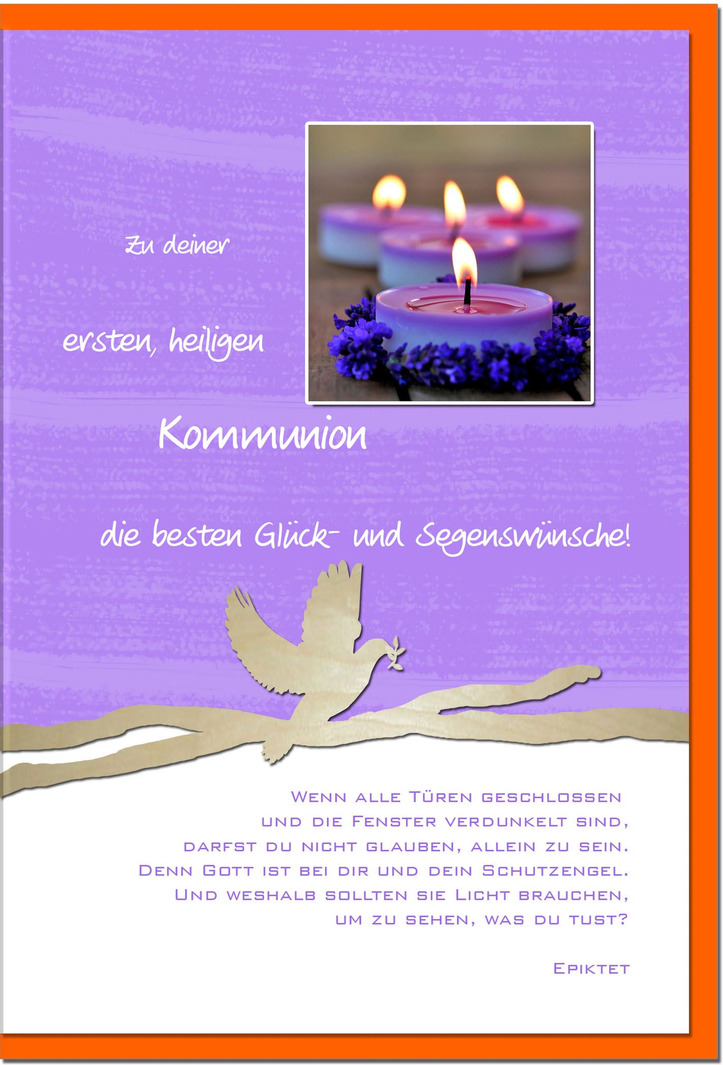 Kommunionskarten / Grußkarten /Kommunion Kerzen