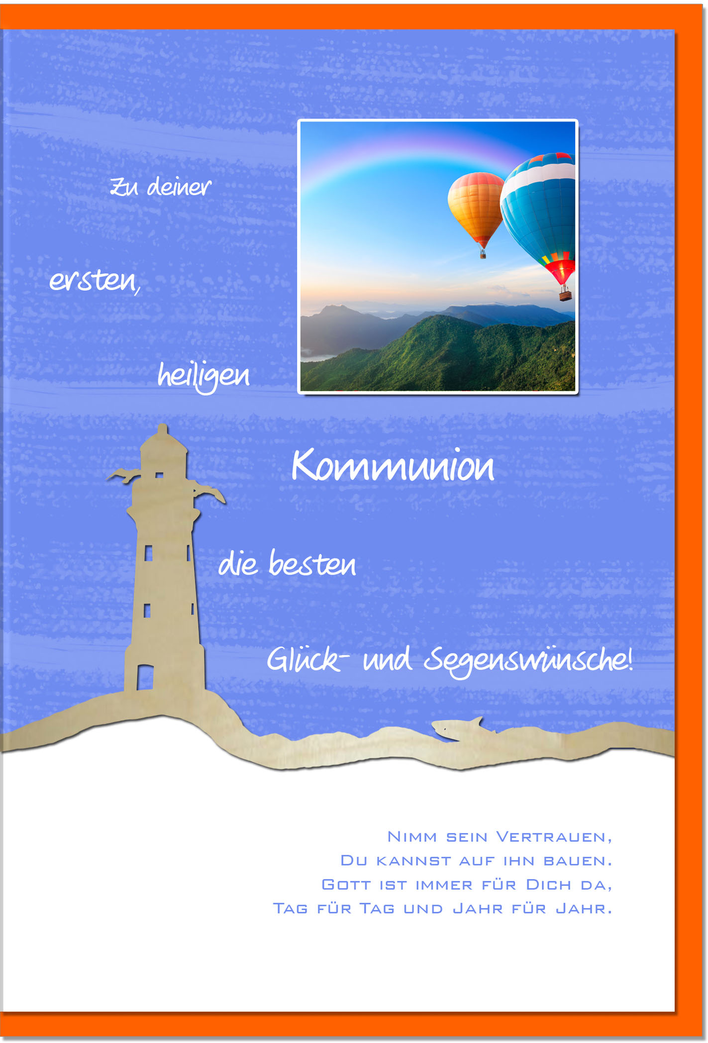Kommunionskarten / Grußkarten /Kommunion Ballons