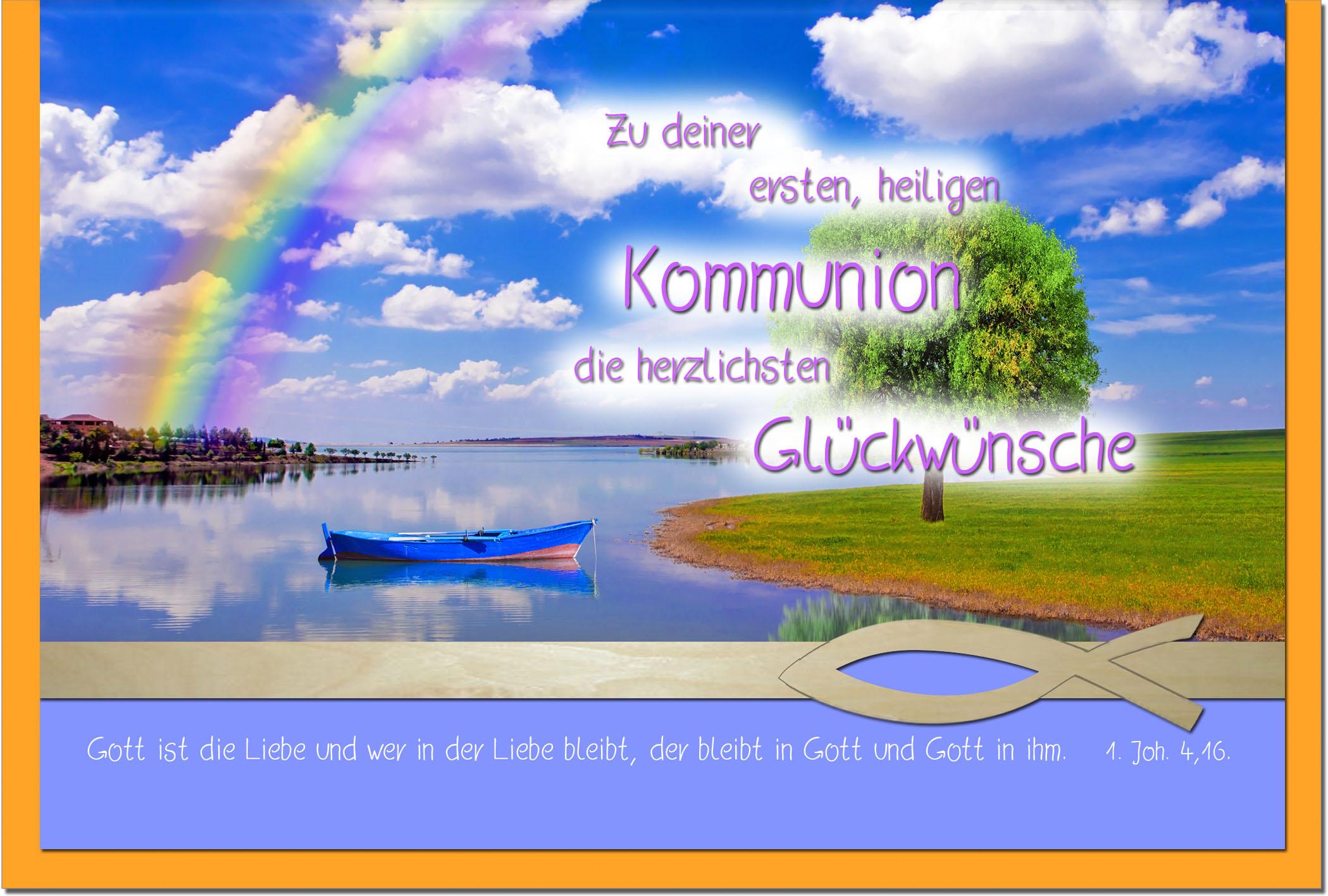 Kommunionskarten / Grußkarten /Kommunion Fluss