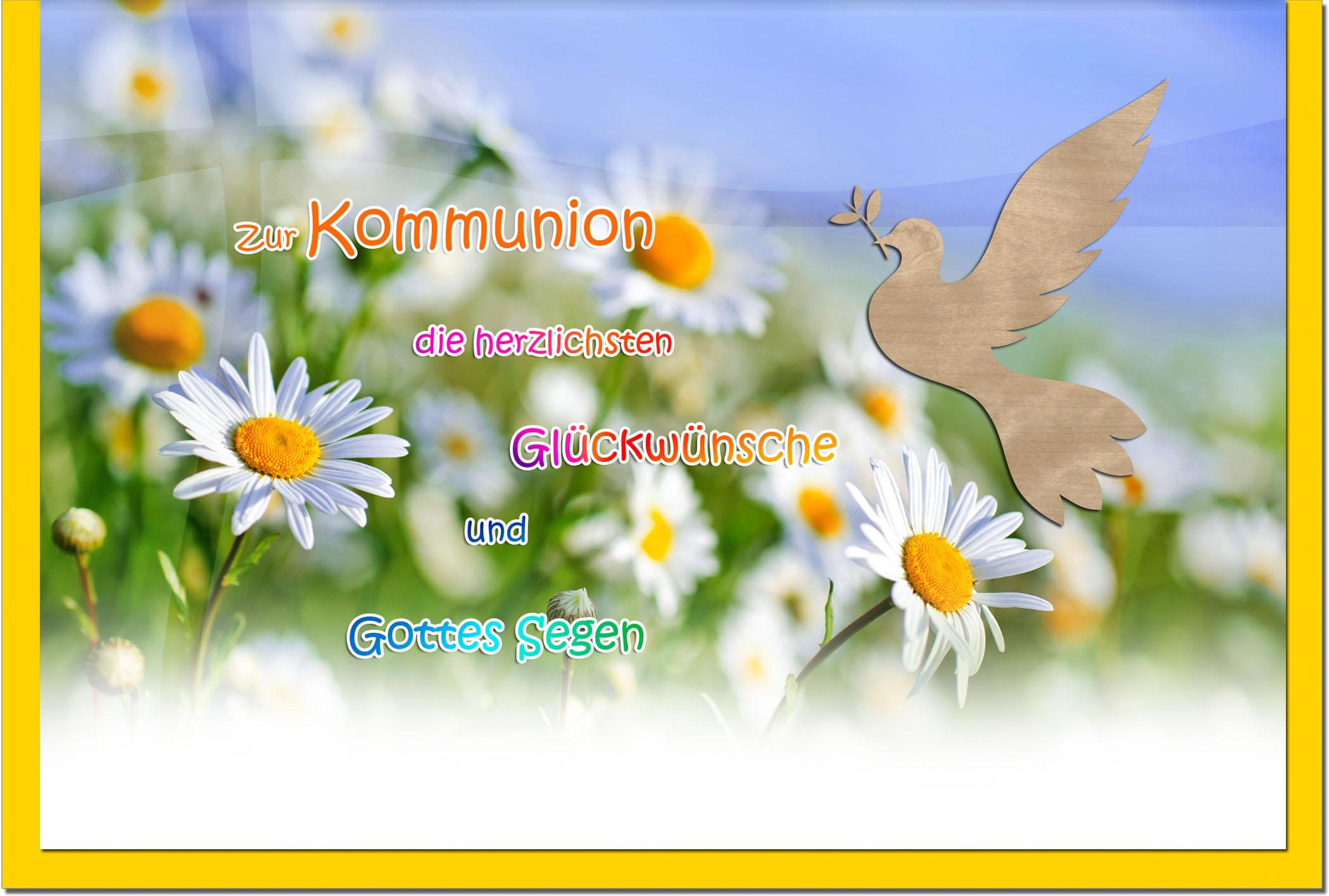 Kommunionskarten / Grußkarten / Glückwunschkarten /Kommunion Blumenwiese