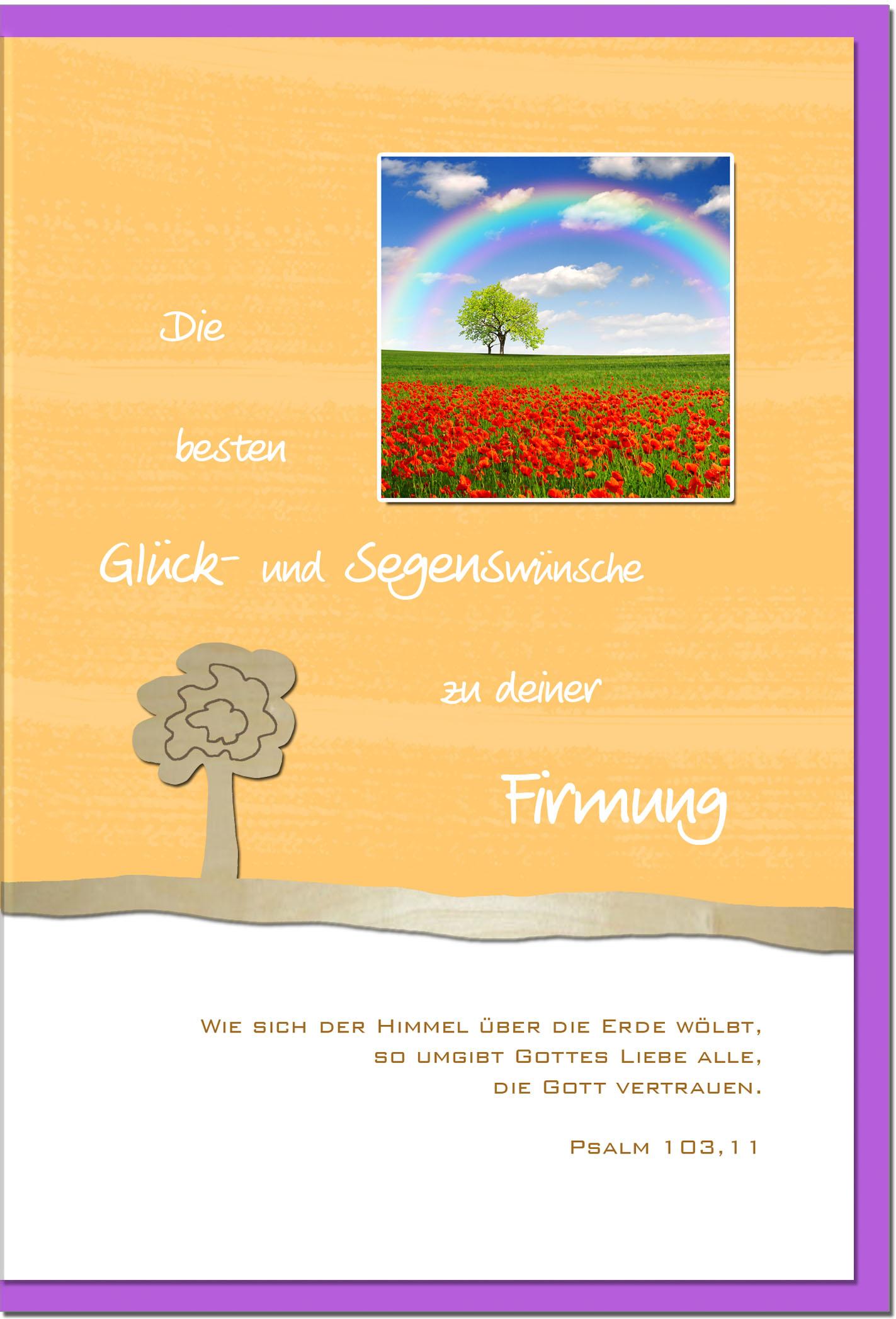 Firmungskarten / Grußkarten /Firmung Regenbogen