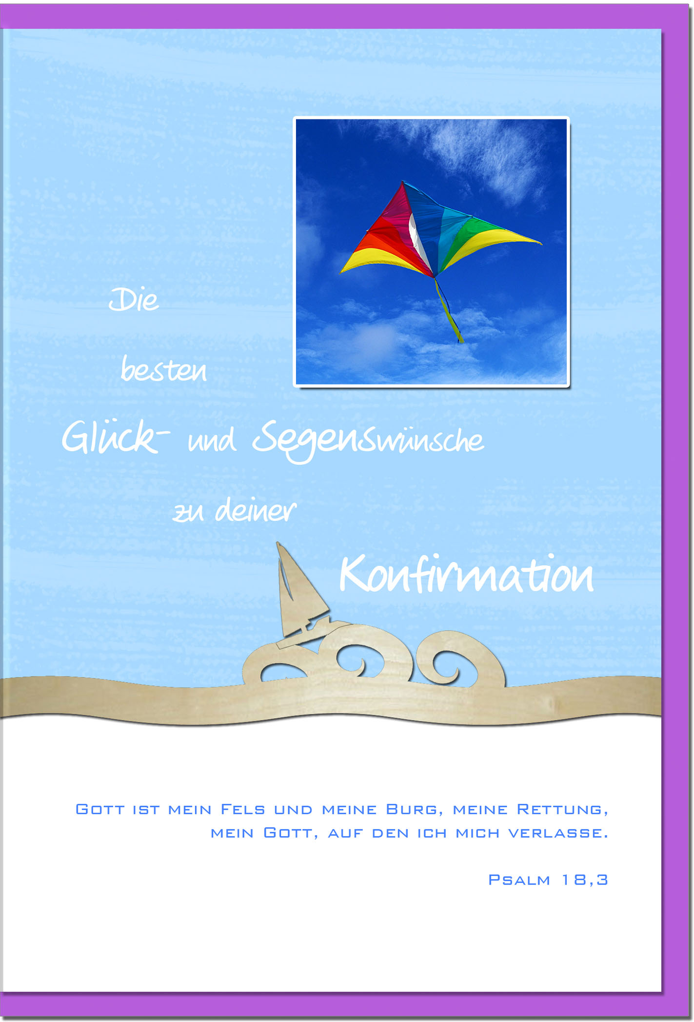 Konfirmationskarten / Grußkarten /Konfirmation Drache