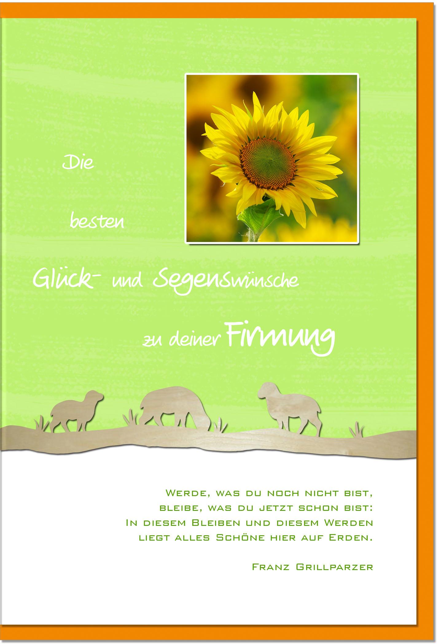 Firmungskarten / Grußkarten /Firmung Sonnenblume