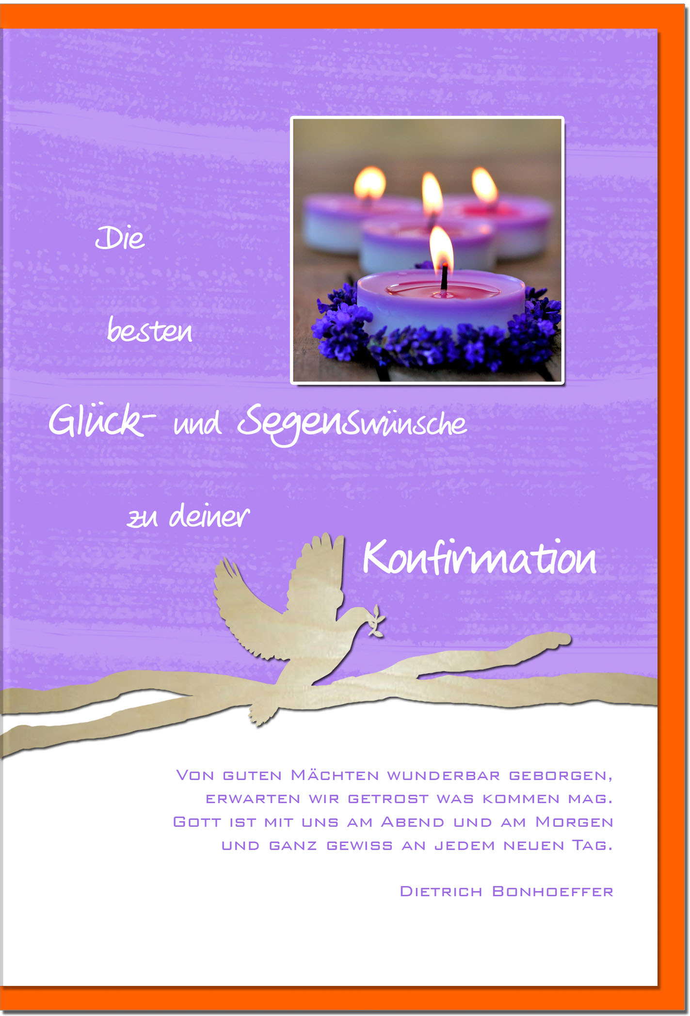 Konfirmationskarten / Grußkarten /Konfirmation Kerzen