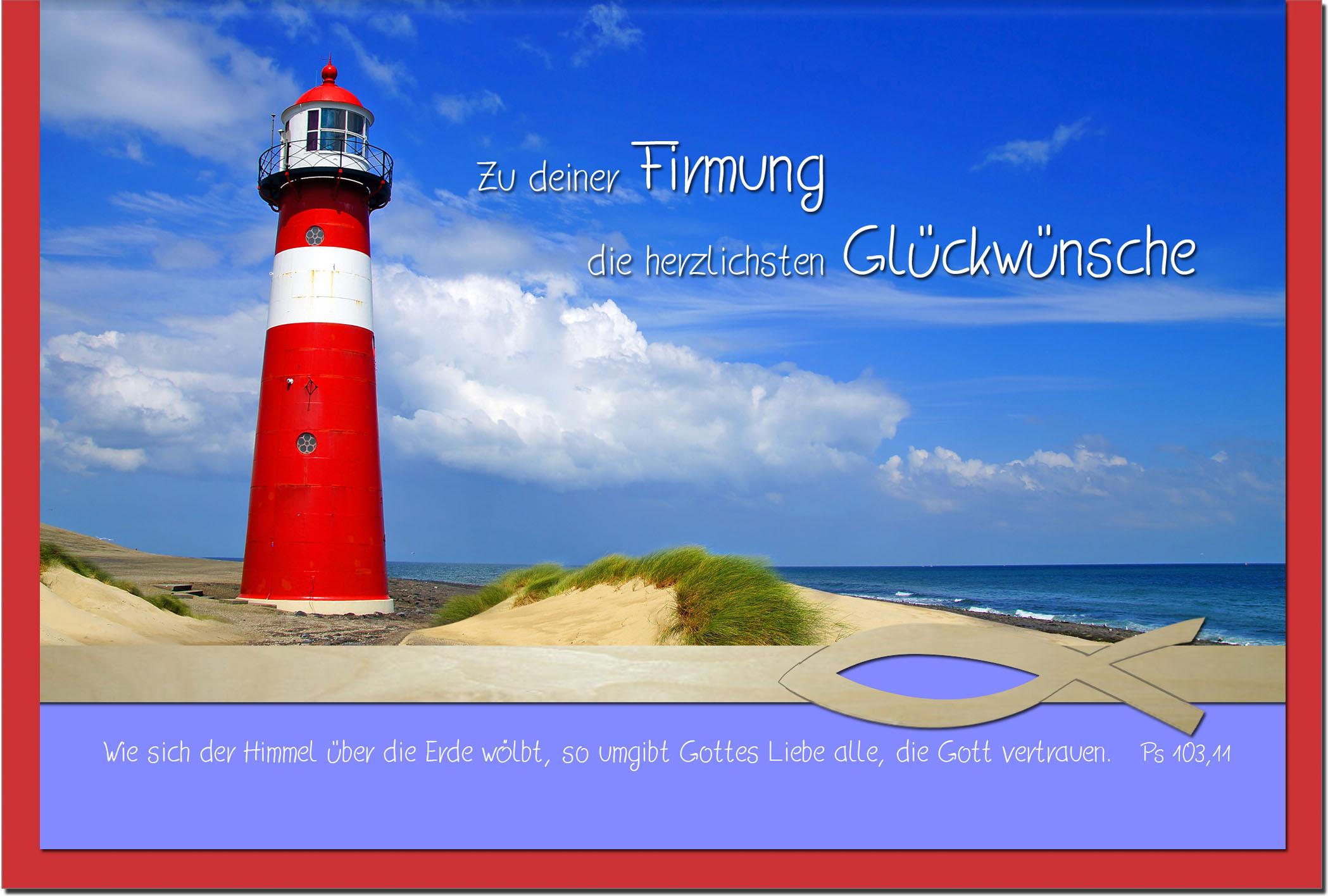 Firmungskarten / Grußkarten /Firmung Leuchtturm