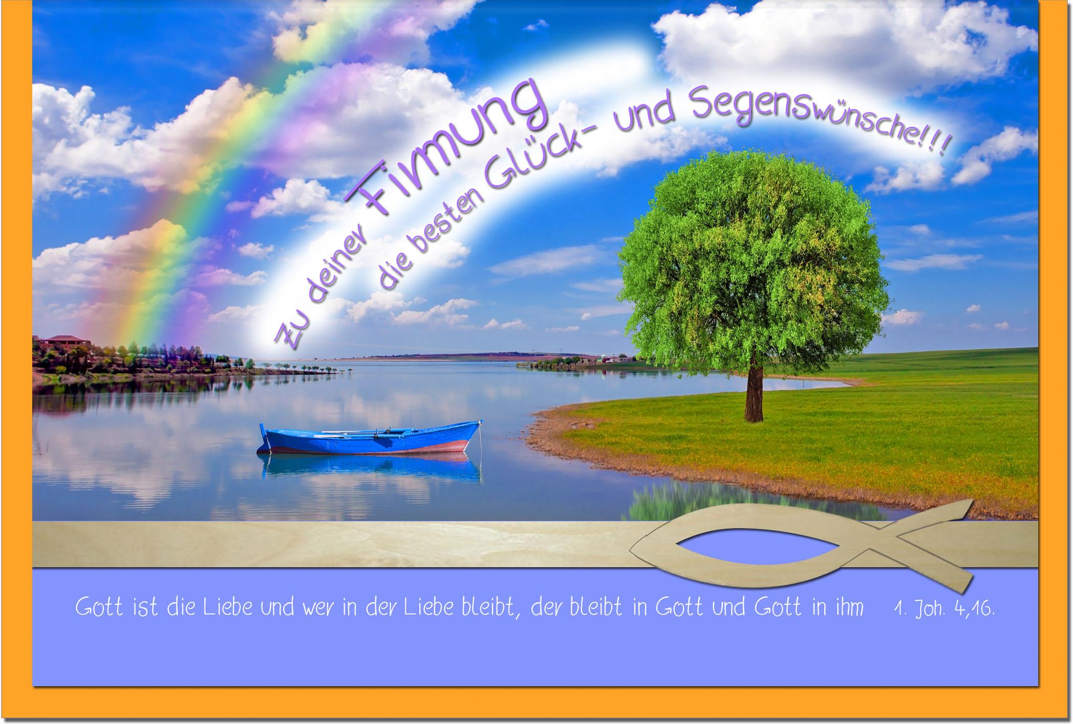 Firmungskarten / Grußkarten /Firmung Fluss