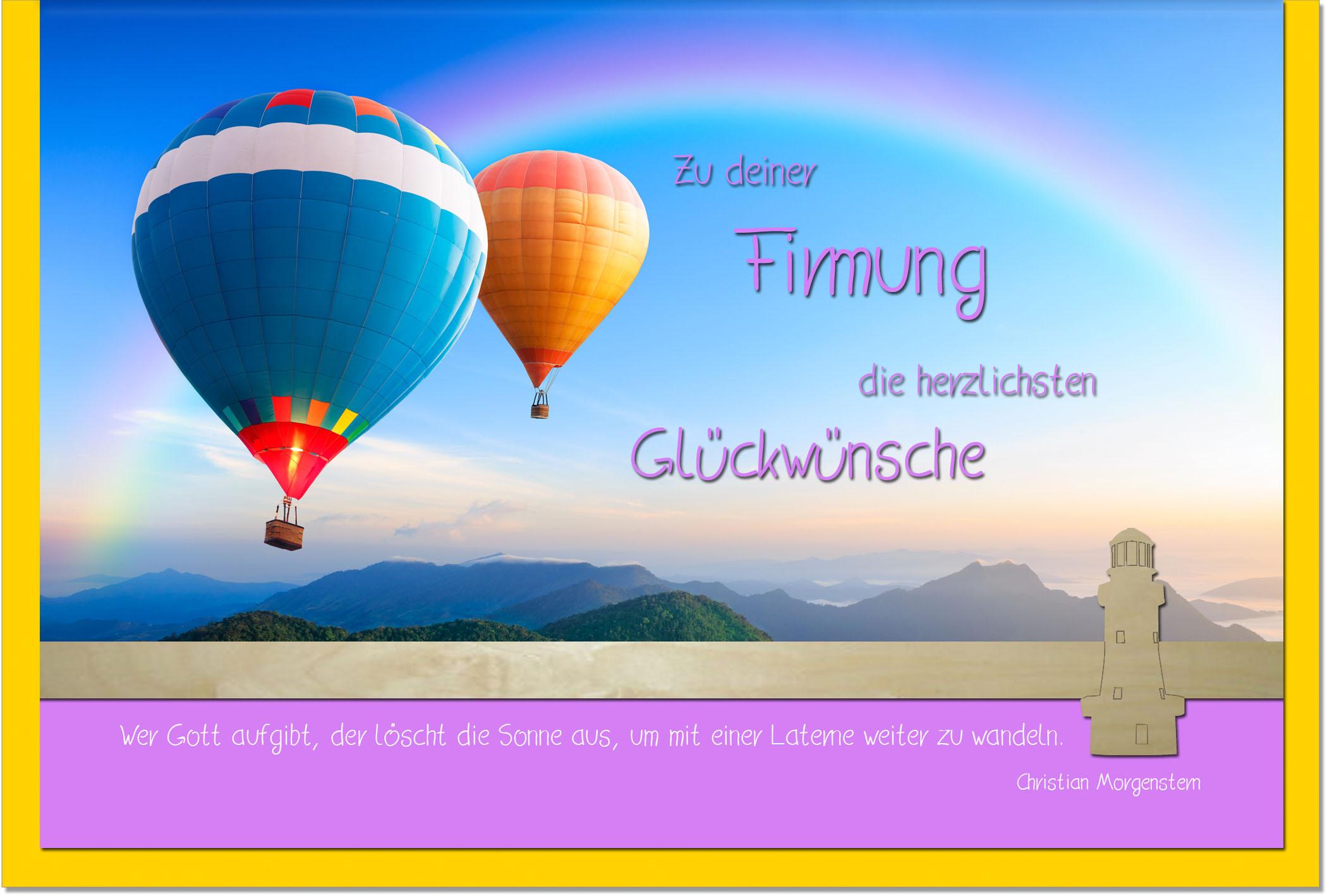 Firmungskarten / Grußkarten /Firmung Ballons