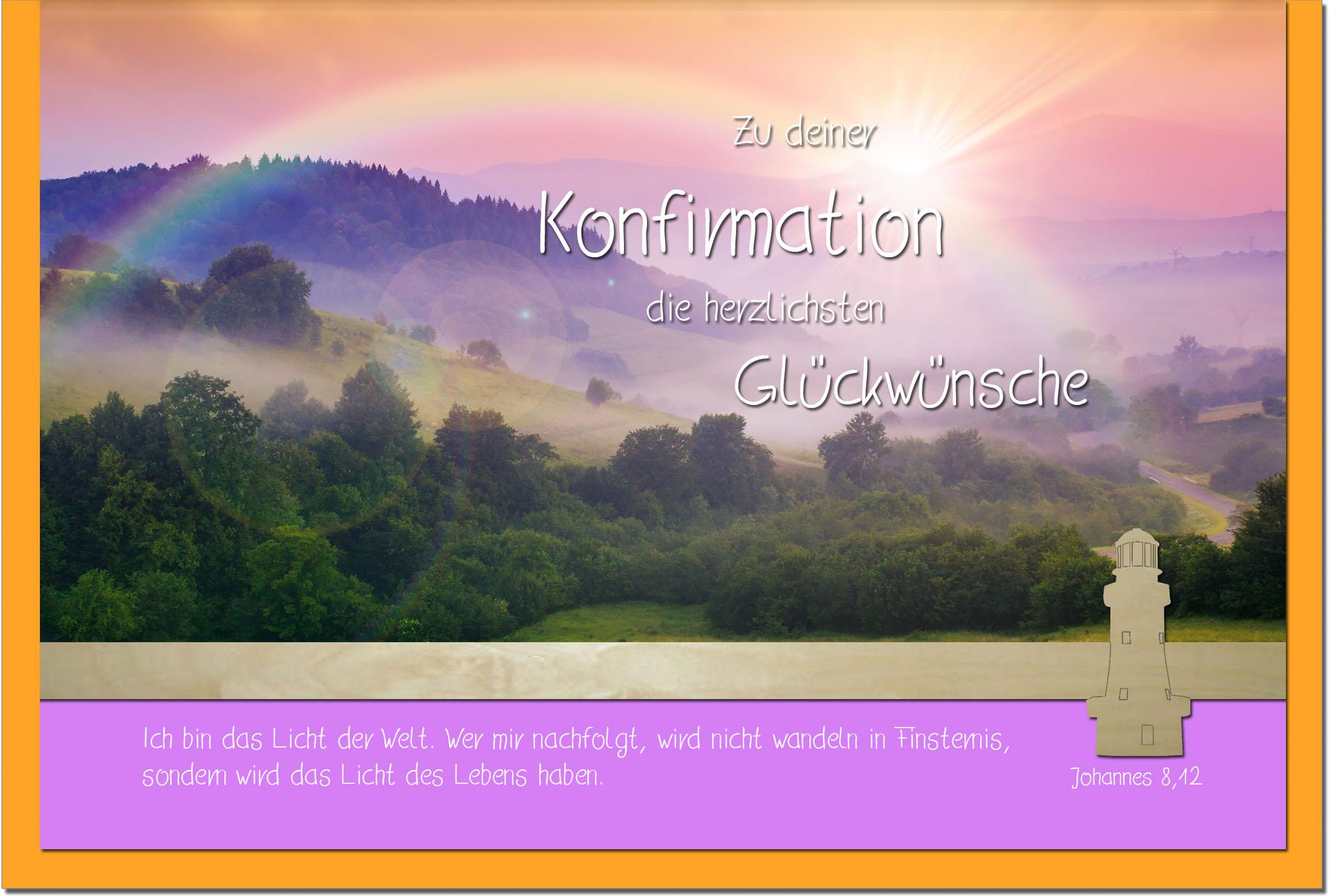 Konfirmationskarten / Grußkarten /Konfirmation Regenbogen