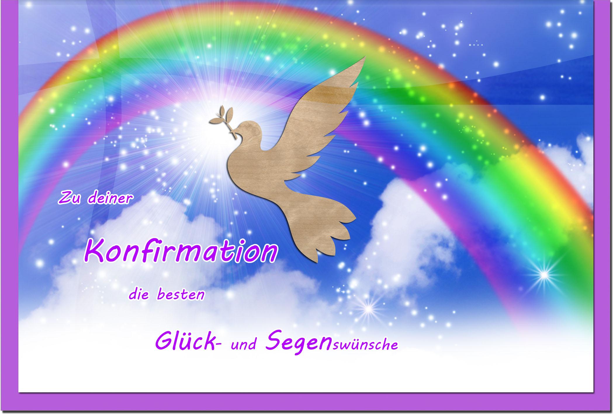 Konfirmationskarten / Grußkarten / Glückwunschkarten /Konfirmation Regenbogen