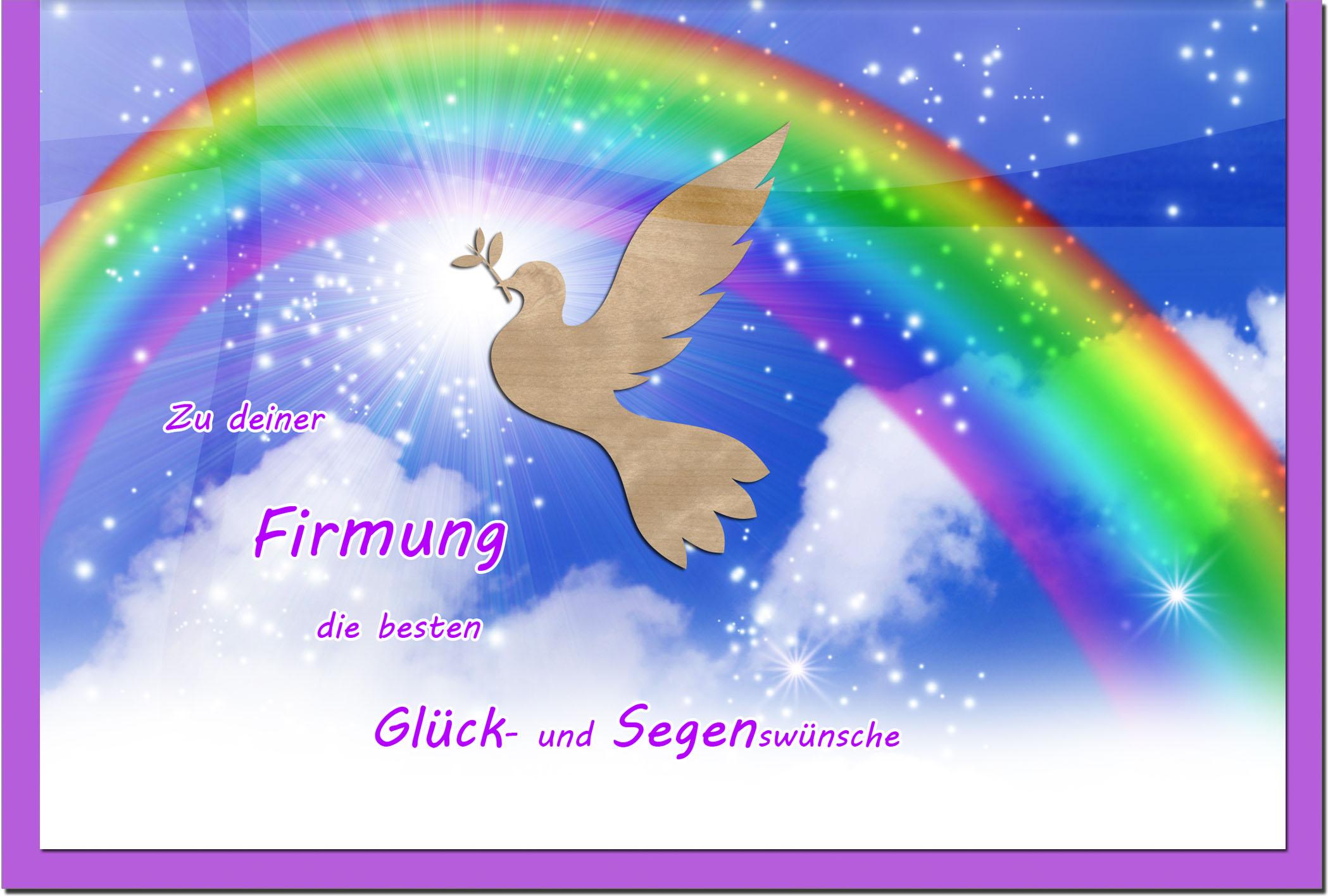 Firmungskarten / Grußkarten / Glückwunschkarten /Firmung Regenbogen