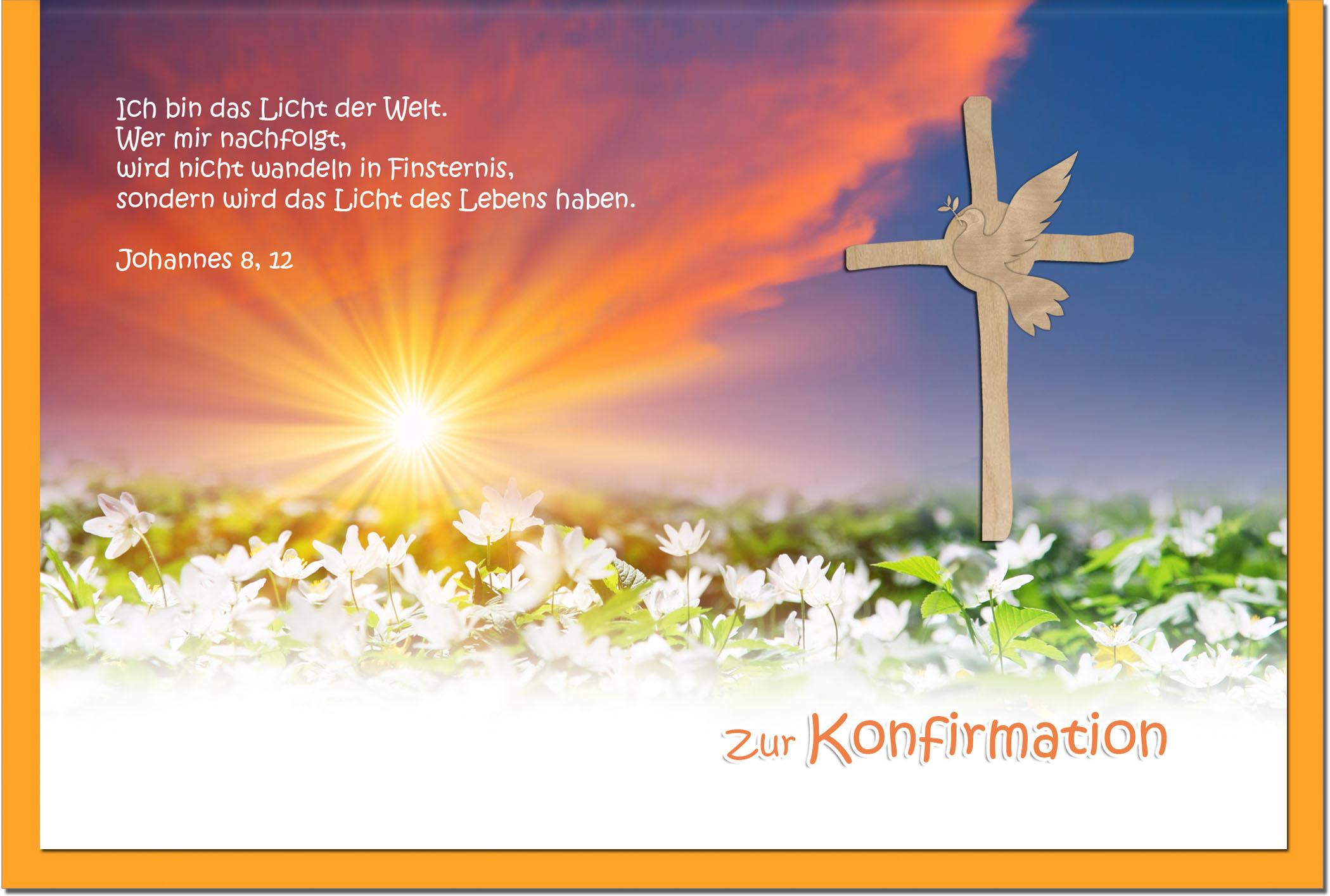 Konfirmationskarten / Grußkarten / Glückwunschkarten /Konfirmation Blumenwiese