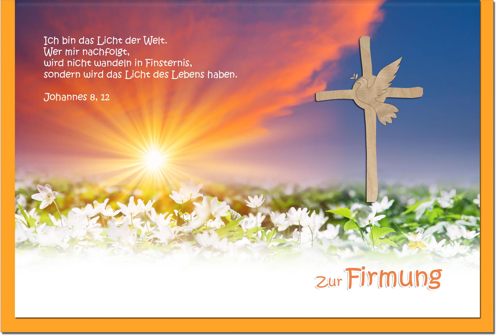 Firmungskarten / Grußkarten / Glückwunschkarten /Firmung Blumenwiese