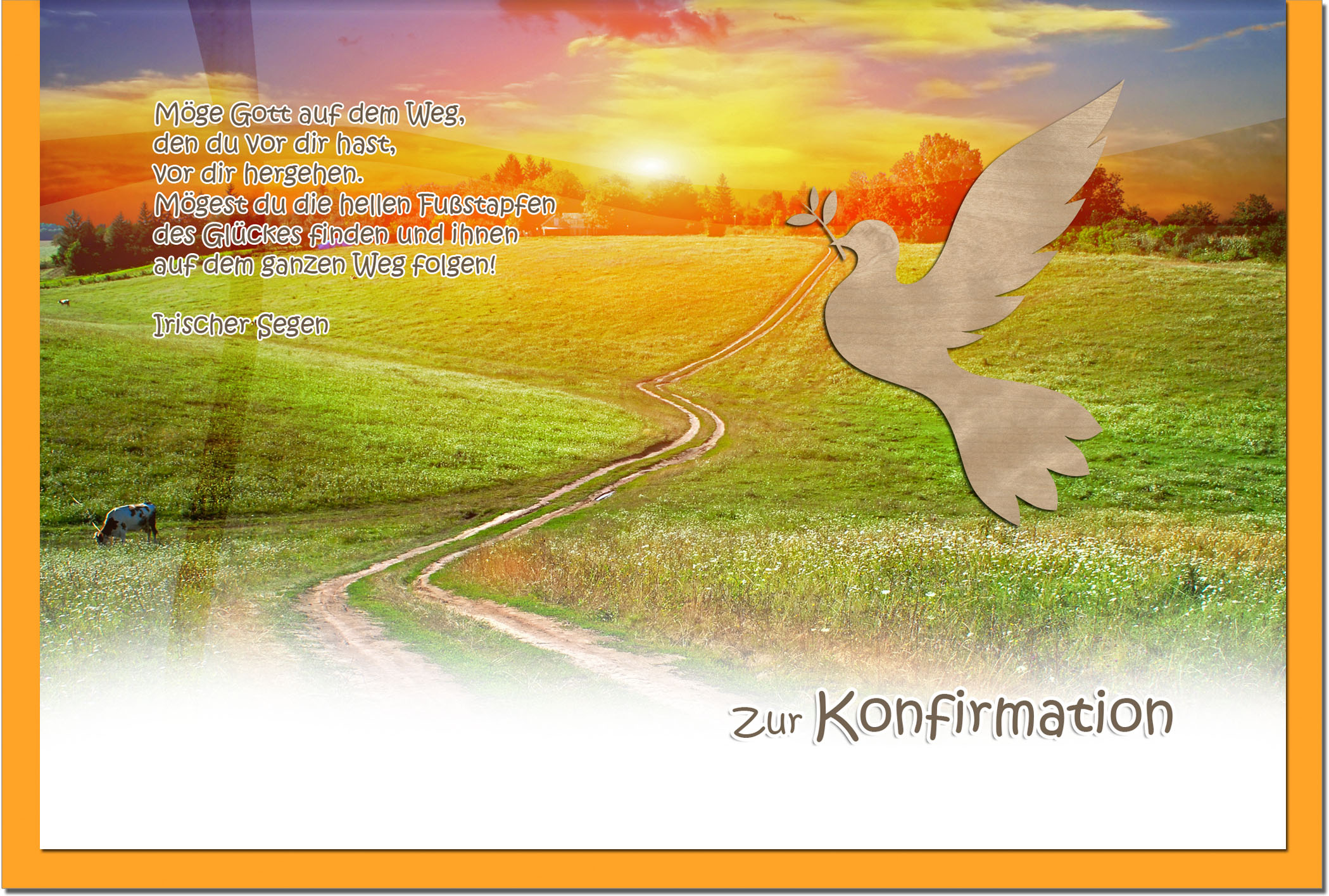 Konfirmationskarten / Grußkarten / Glückwunschkarten /Konfirmation Weg