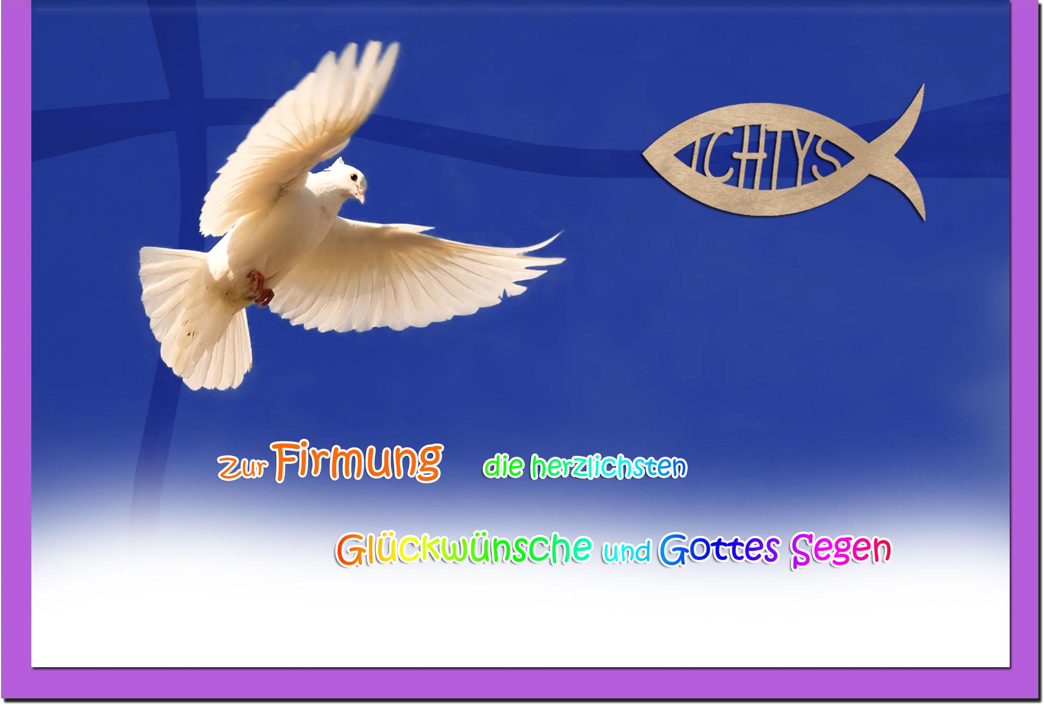 Firmungskarten / Grußkarten / Glückwunschkarten /Firmung Möwe