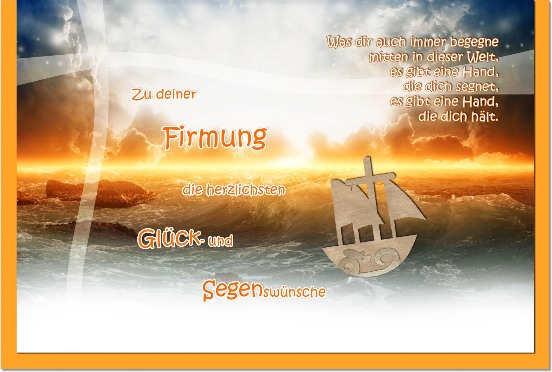 Firmungskarten / Grußkarten / Glückwunschkarten /Firmung Meer