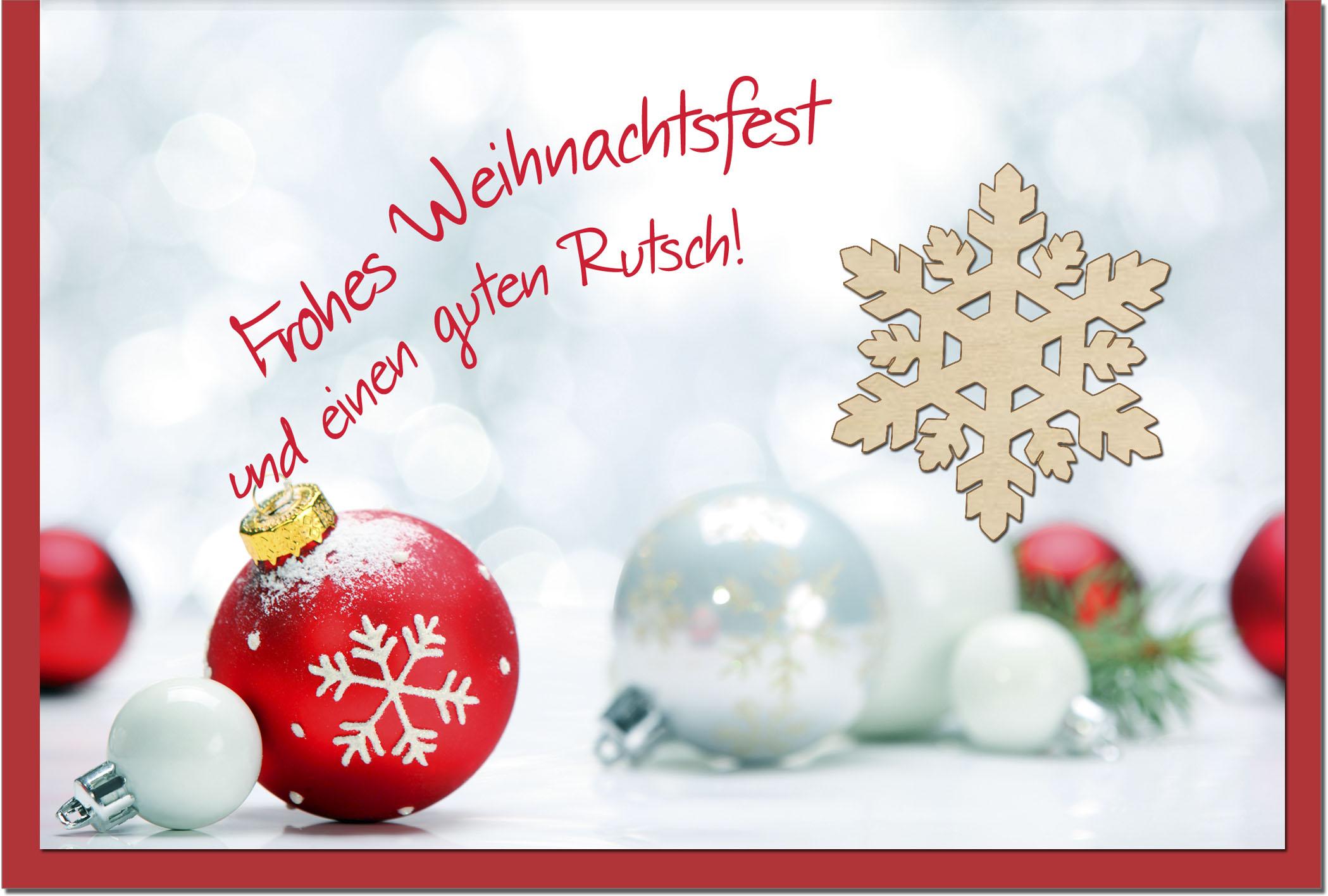 Weihnachtskarten / Grußkarten /Weihnachten Schneekristall