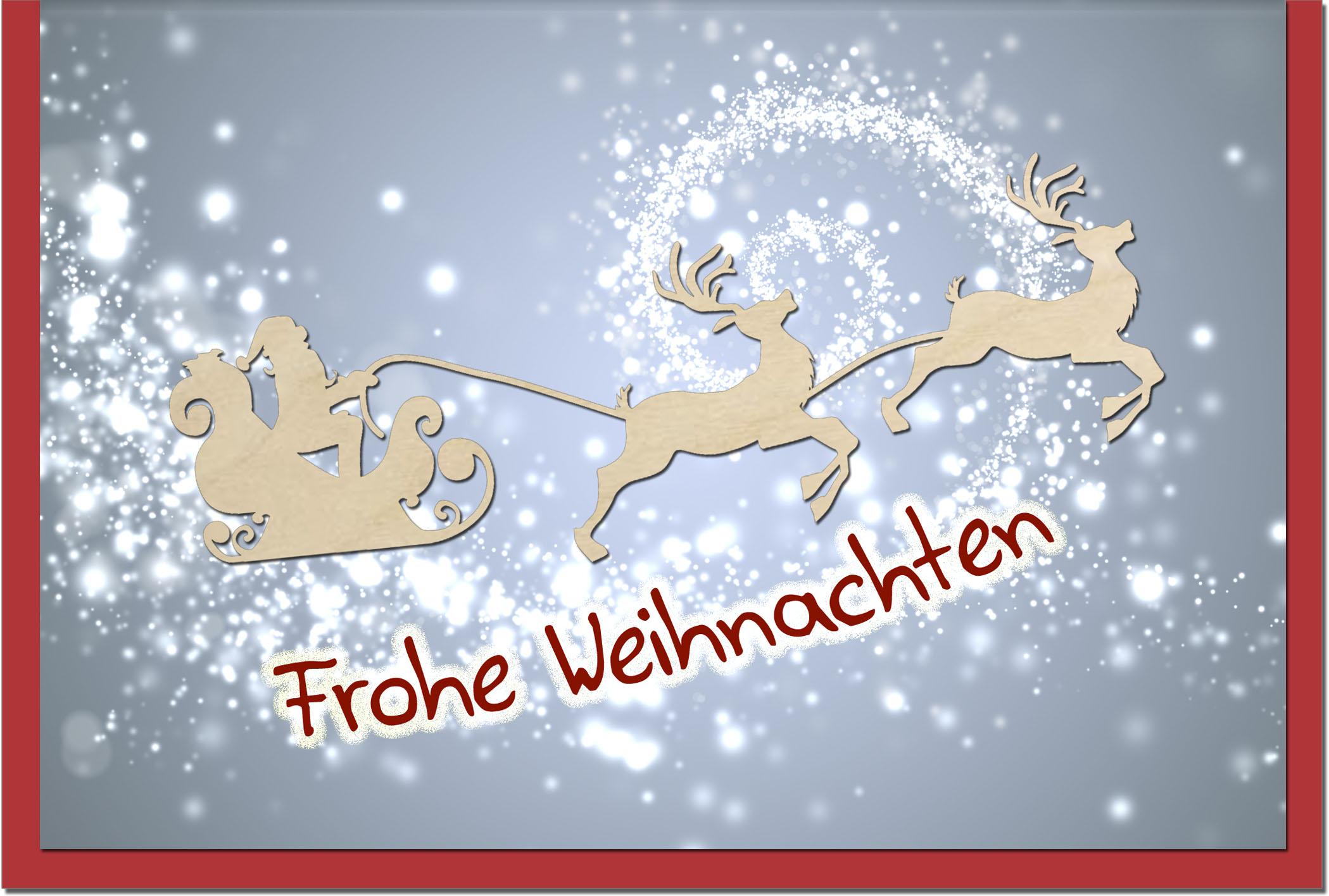 Weihnachtskarten / Grußkarten /Weihnachten Weihnachtsschlitten