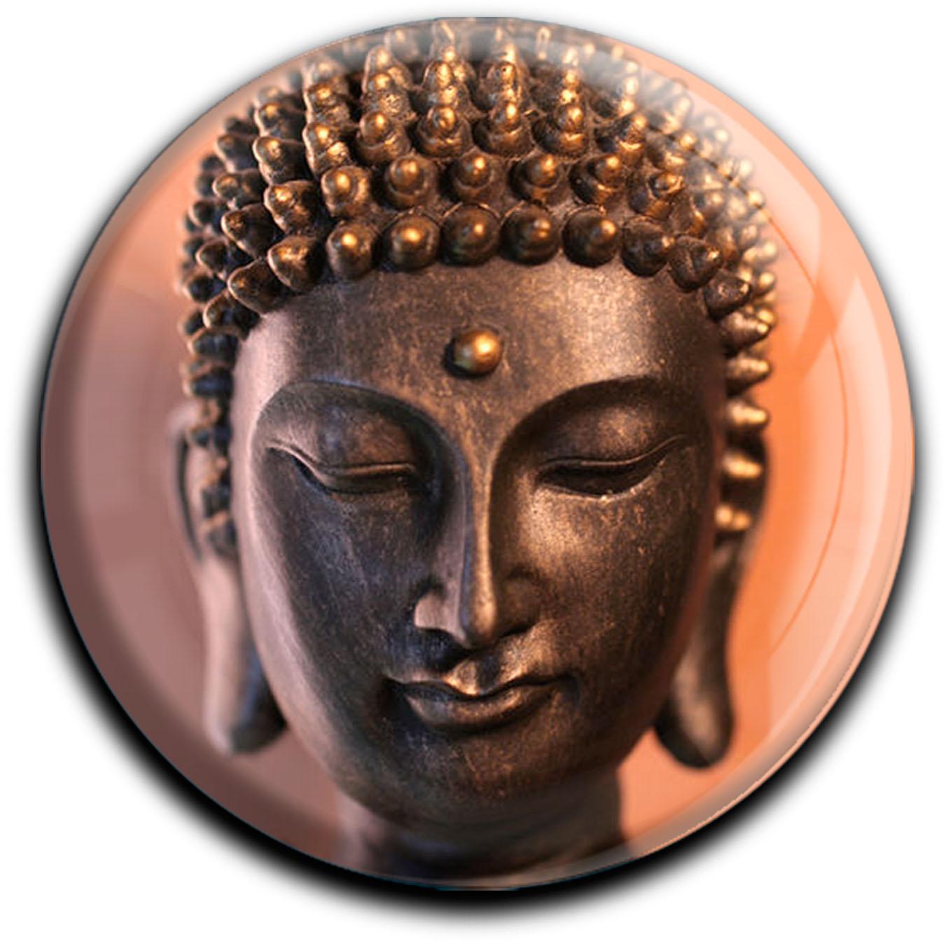 """metALUm Premium Magnete rund """"Buddha"""""""
