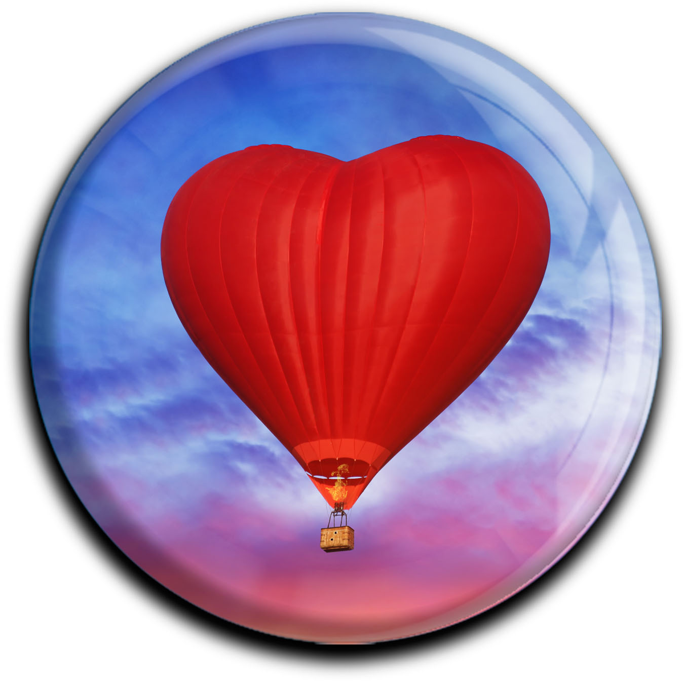 """metALUm Premium Magnete rund """"Heißluftballon"""""""