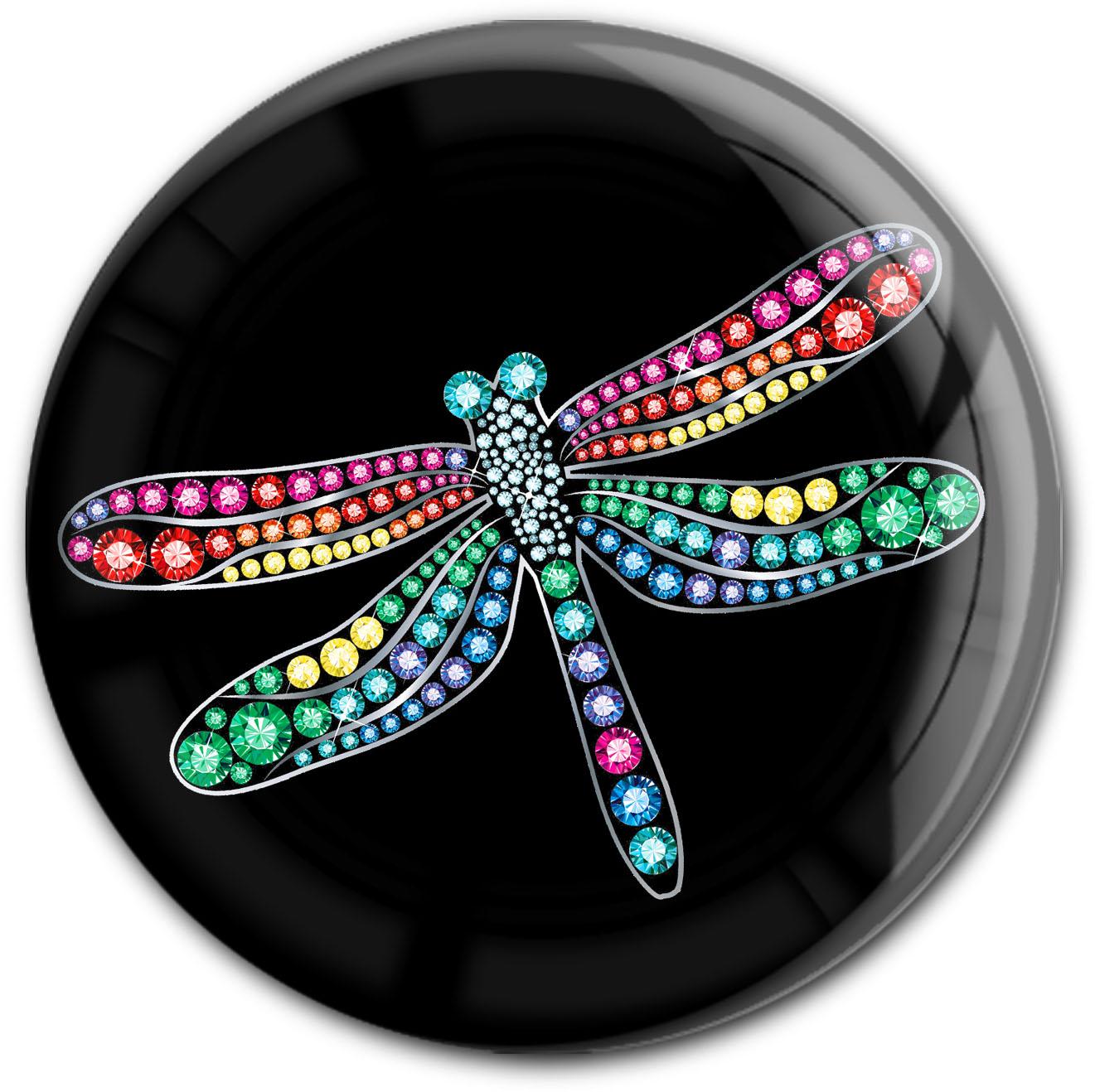 """metALUm Premium Magnet in runder Form """"Libelle"""""""