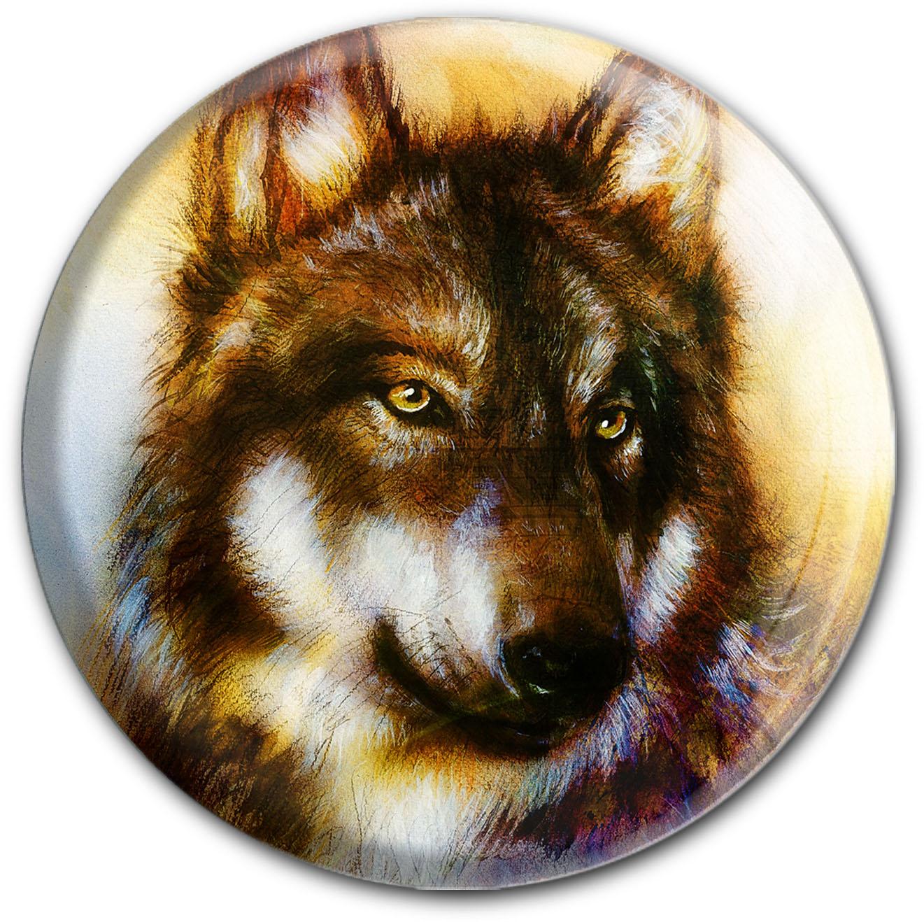 Magnet / Kühlschrankmagnet / Wolf / Raubtiere / Wild