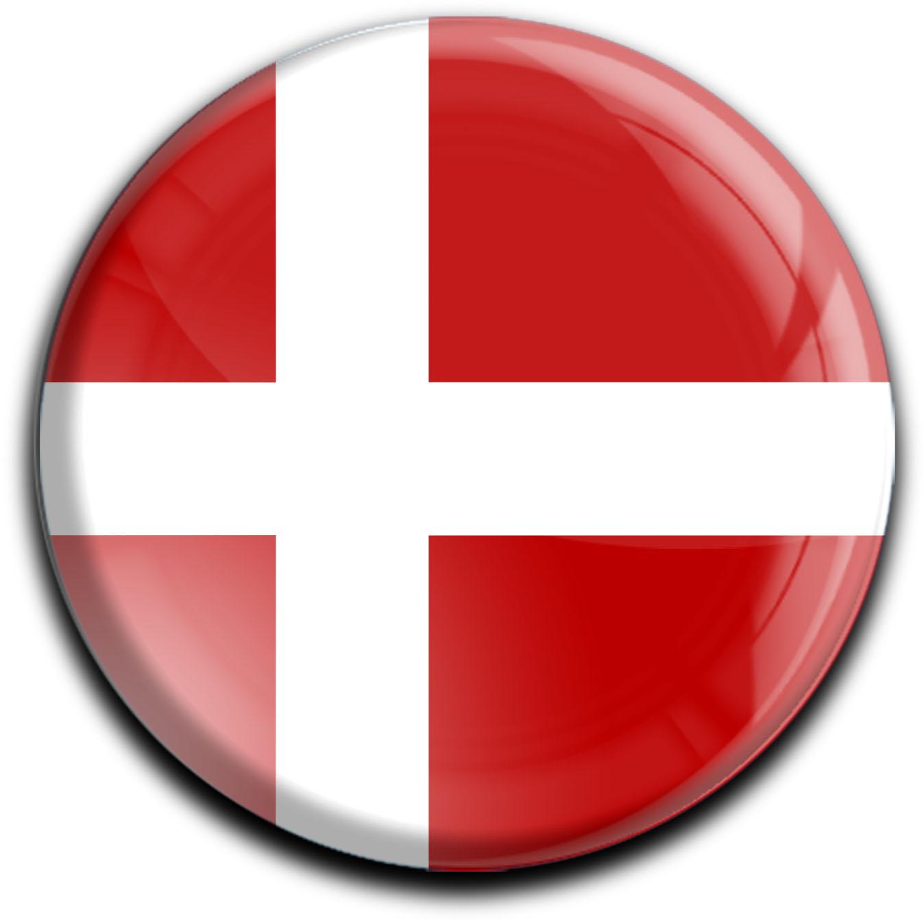 """metALUm Premium Magnete rund """"Flagge Dänemark"""""""