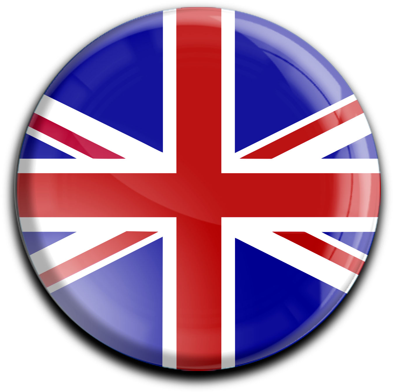 "metALUm Premium Magnete rund ""Flagge Großbritannien"""