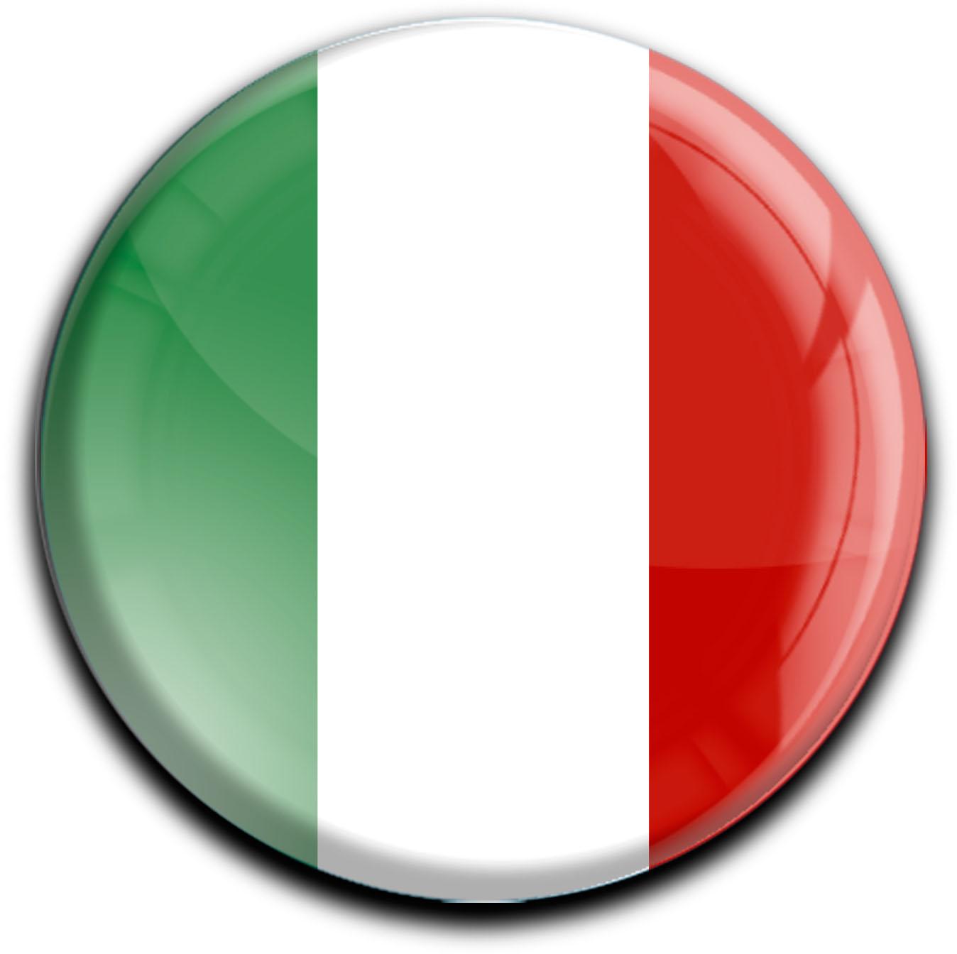 """metALUm Premium Magnete rund """"Flagge Italien"""""""