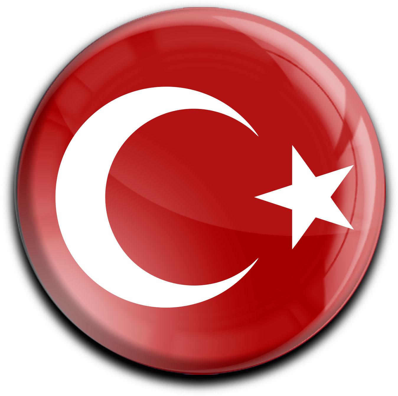 """metALUm Premium Magnete rund """"Flagge Türkei"""""""
