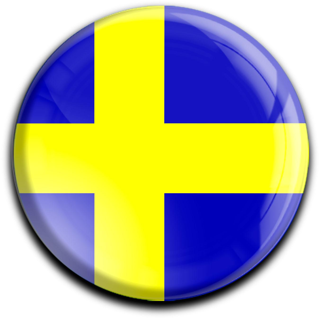 "metALUm Premium Magnete rund ""Flagge Schweden"""