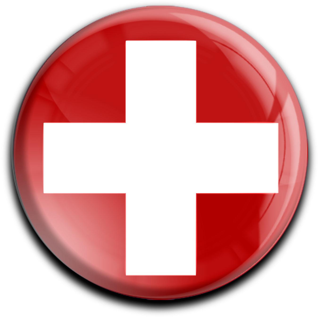 "metALUm Premium Magnete rund ""Flagge Schweiz"""