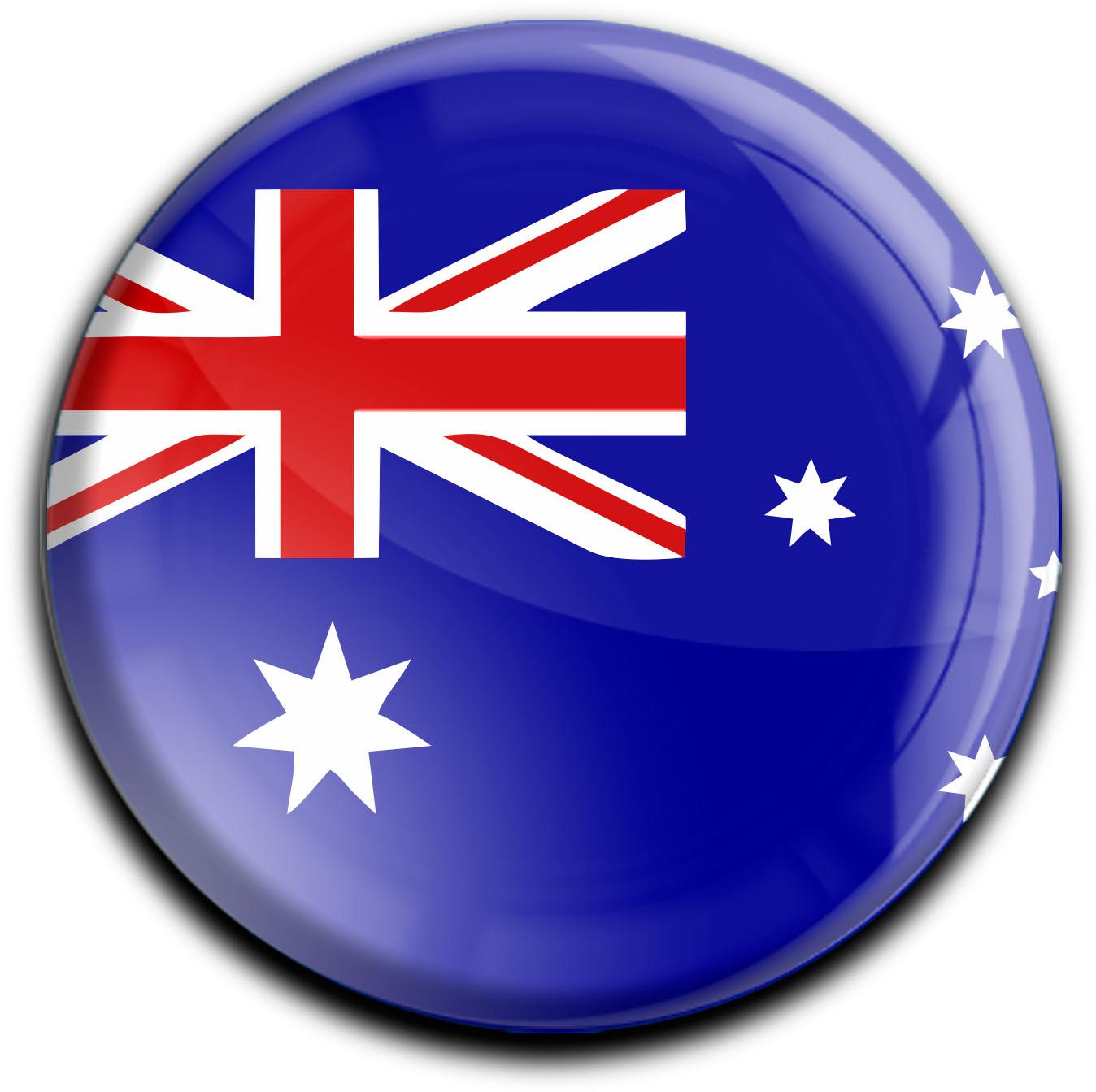 """metALUm Premium Magnete rund """"Flagge Australien"""""""