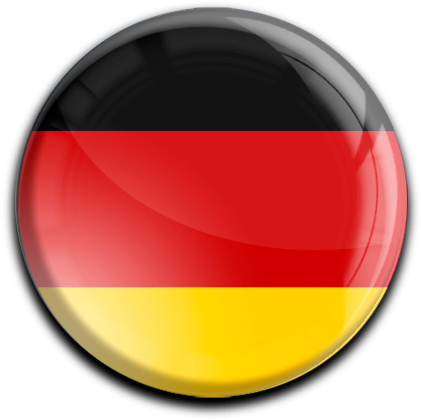 "metALUm Premium Magnete rund ""Flagge Deutschland"""
