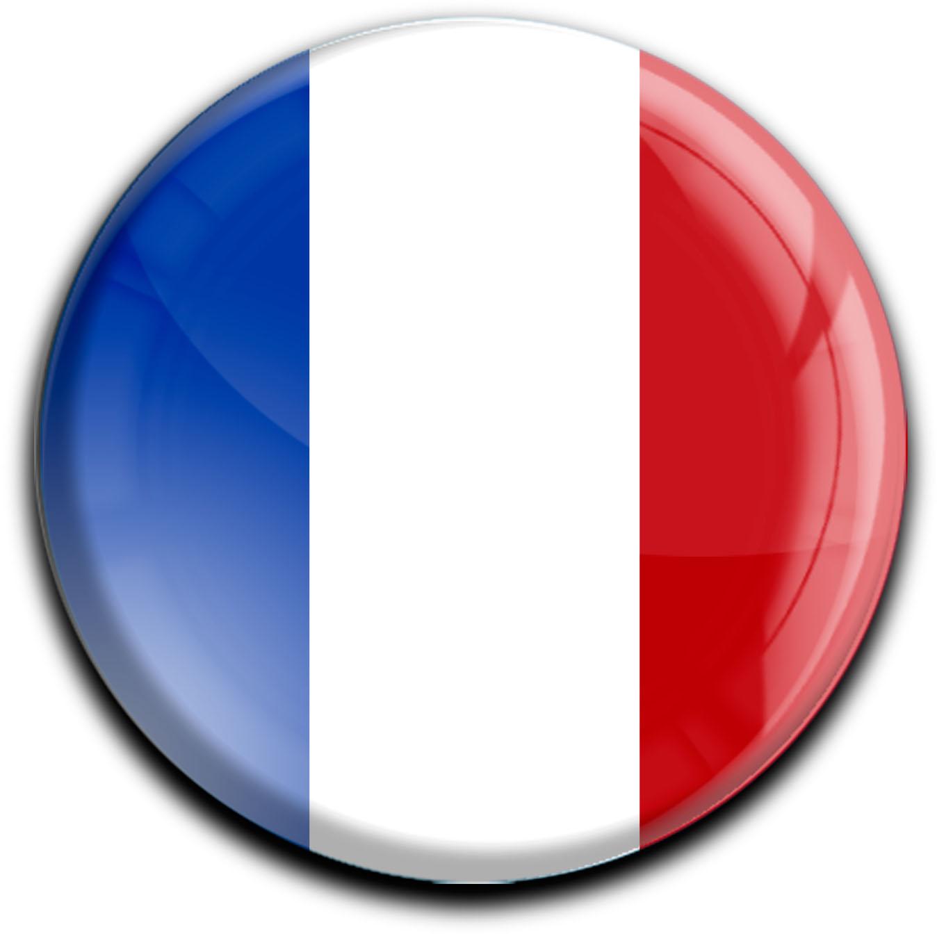 """metALUm Premium Magnete rund """"Flagge Frankreich"""""""