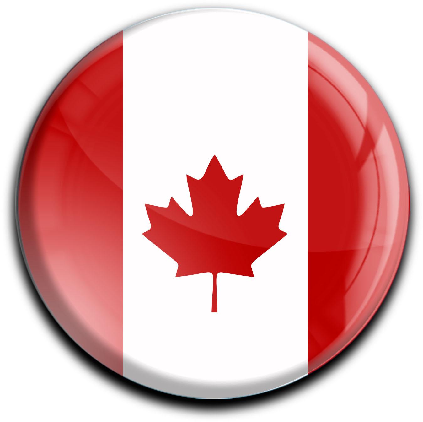 """metALUm Premium Magnete rund """"Flagge Kanada"""""""