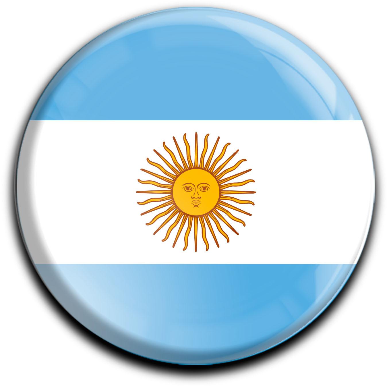 """metALUm Premium Magnete rund """"Flagge Argentinien"""""""