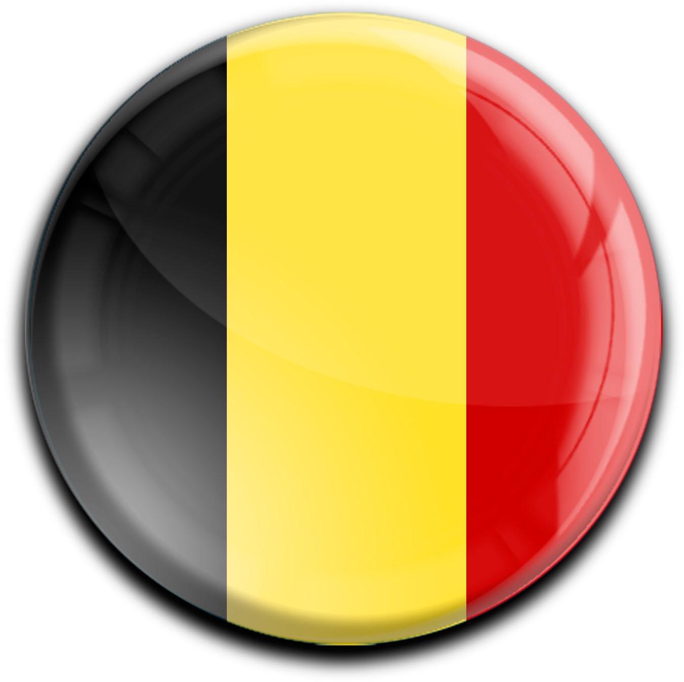 """metALUm Premium Magnete rund """"Flagge Belgien"""""""