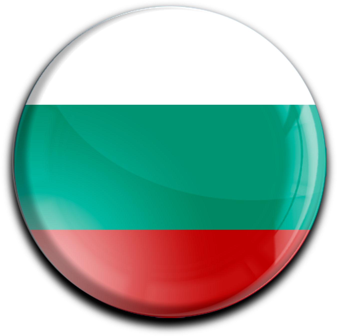 """metALUm Premium Magnete rund """"Flagge Bulgarien"""""""