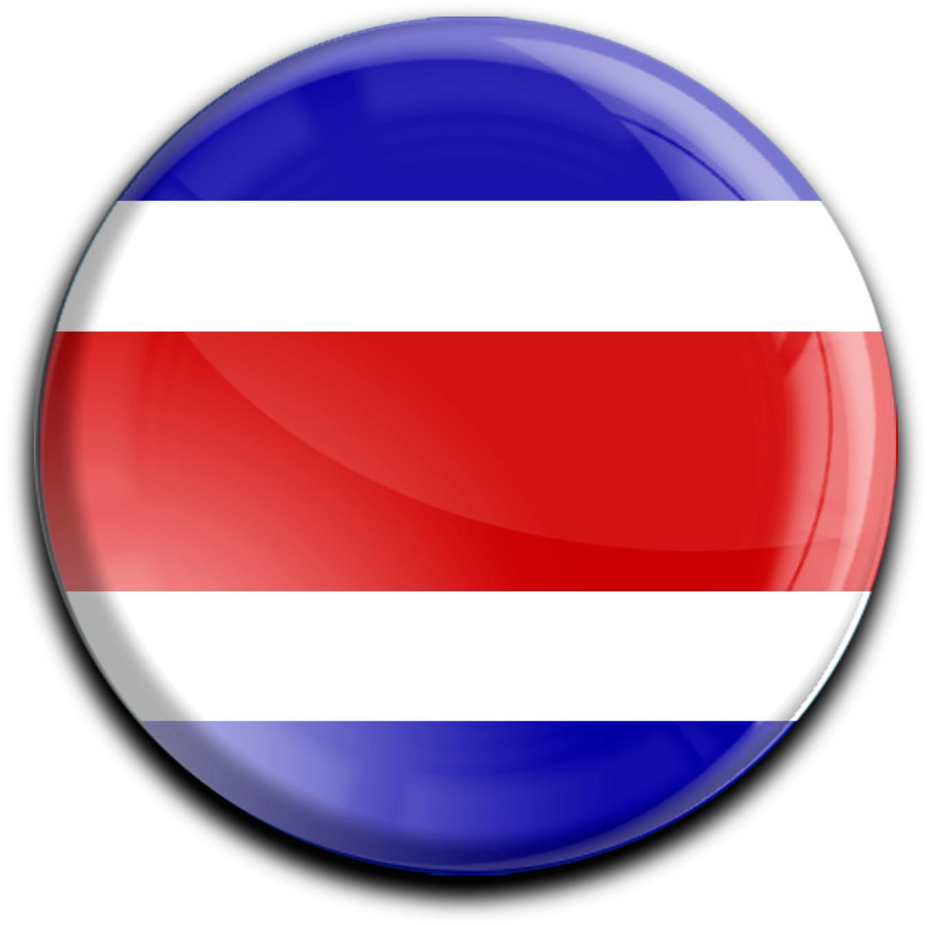 """metALUm Premium Magnete rund """"Flagge Costa Rica"""""""
