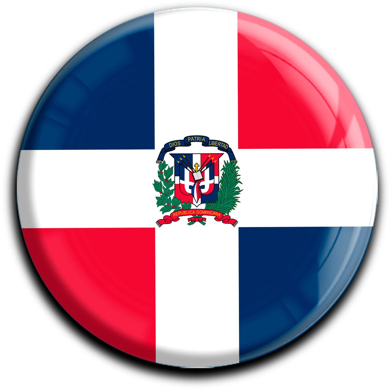 """metALUm Premium Magnete rund """"Flagge Dominikanische Republik"""""""