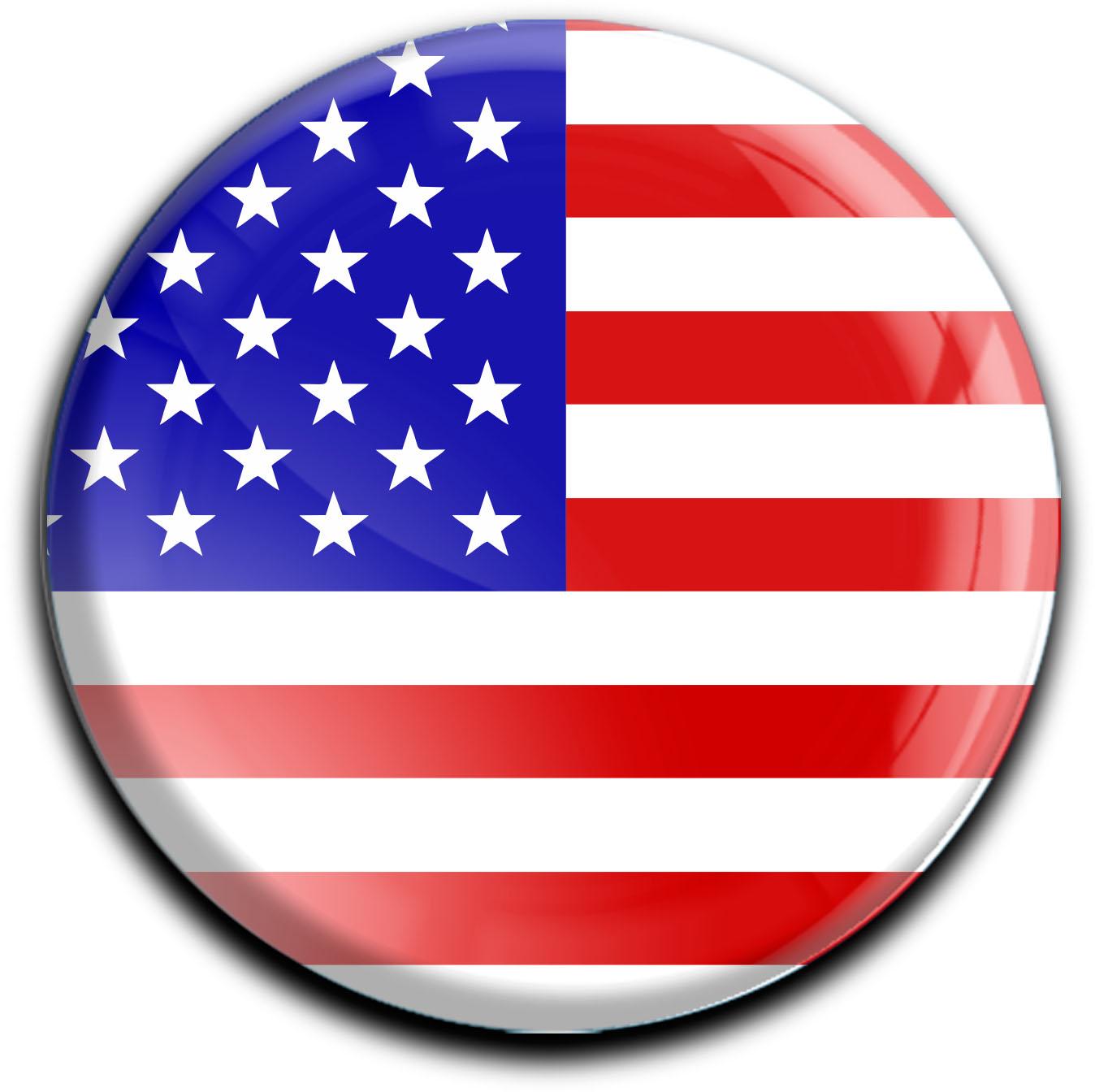 """metALUm Premium Magnete rund """"Flagge USA"""""""