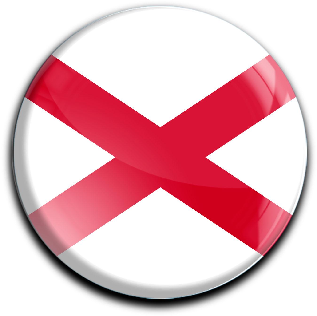 """metALUm Premium Magnete rund """"Flagge Alabama"""""""