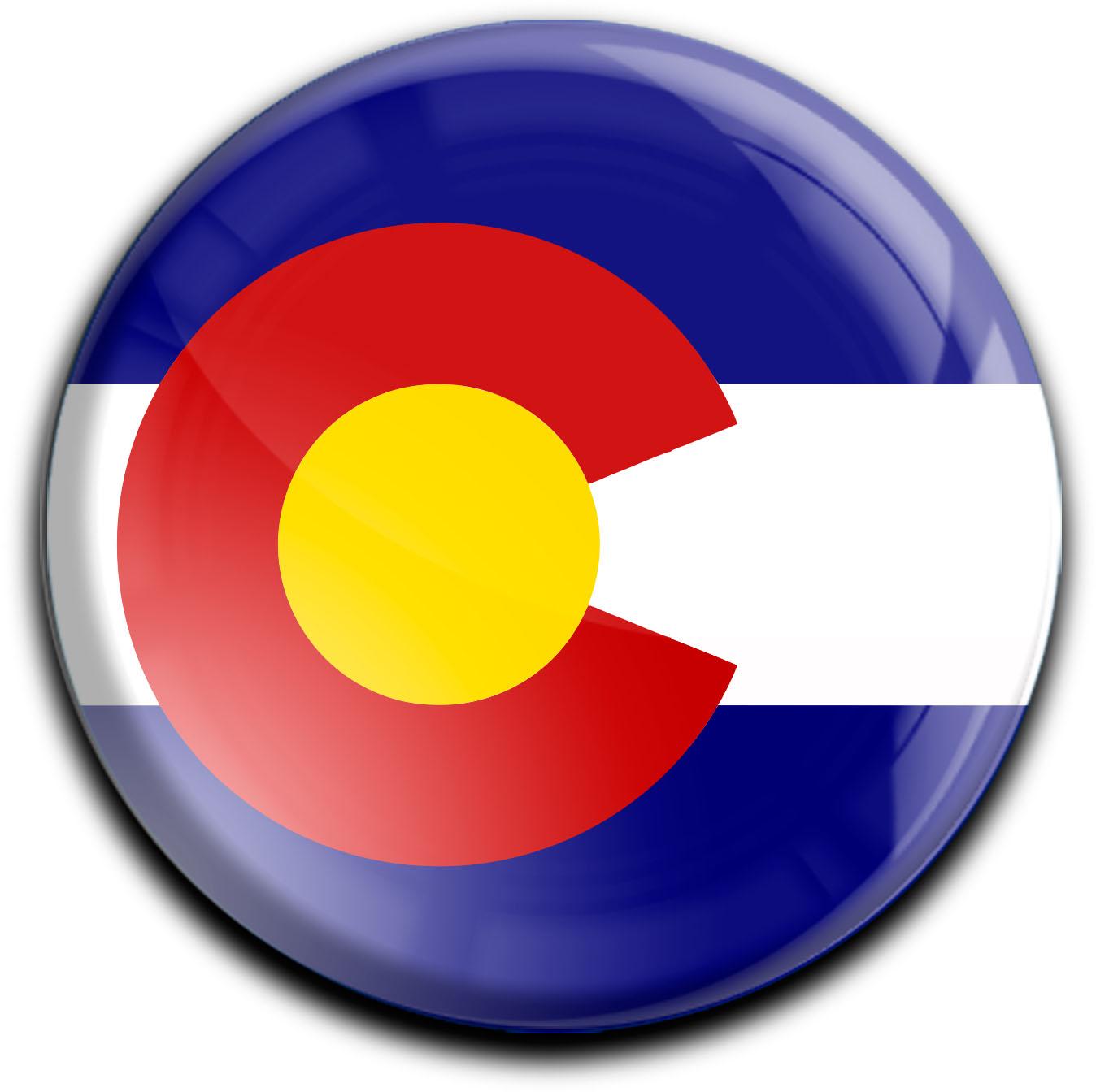 """metALUm Premium Magnete rund """"Flagge Colorado"""""""