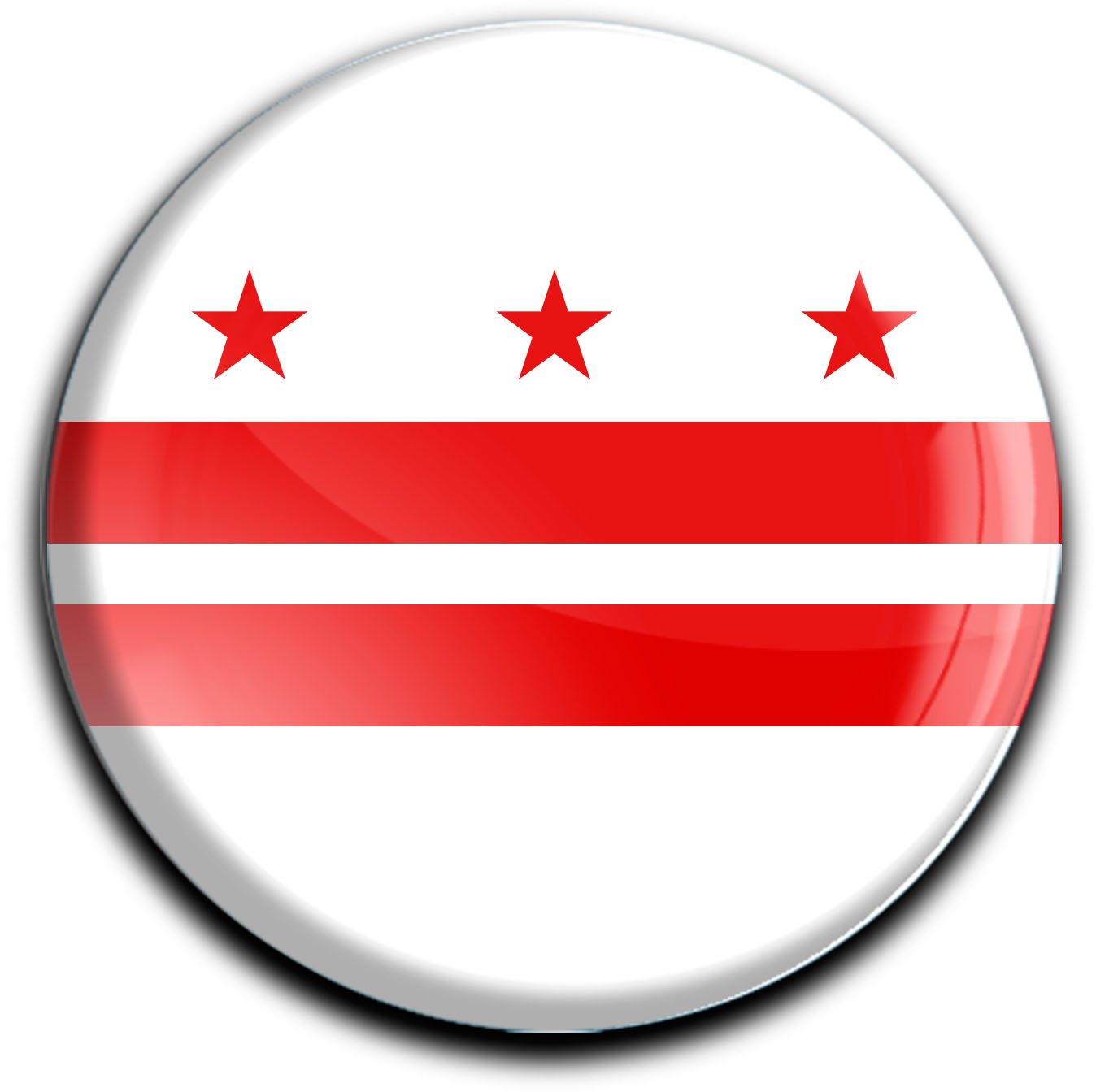 """metALUm Premium Magnete rund """"Flagge Washington, DC / Columbia"""""""