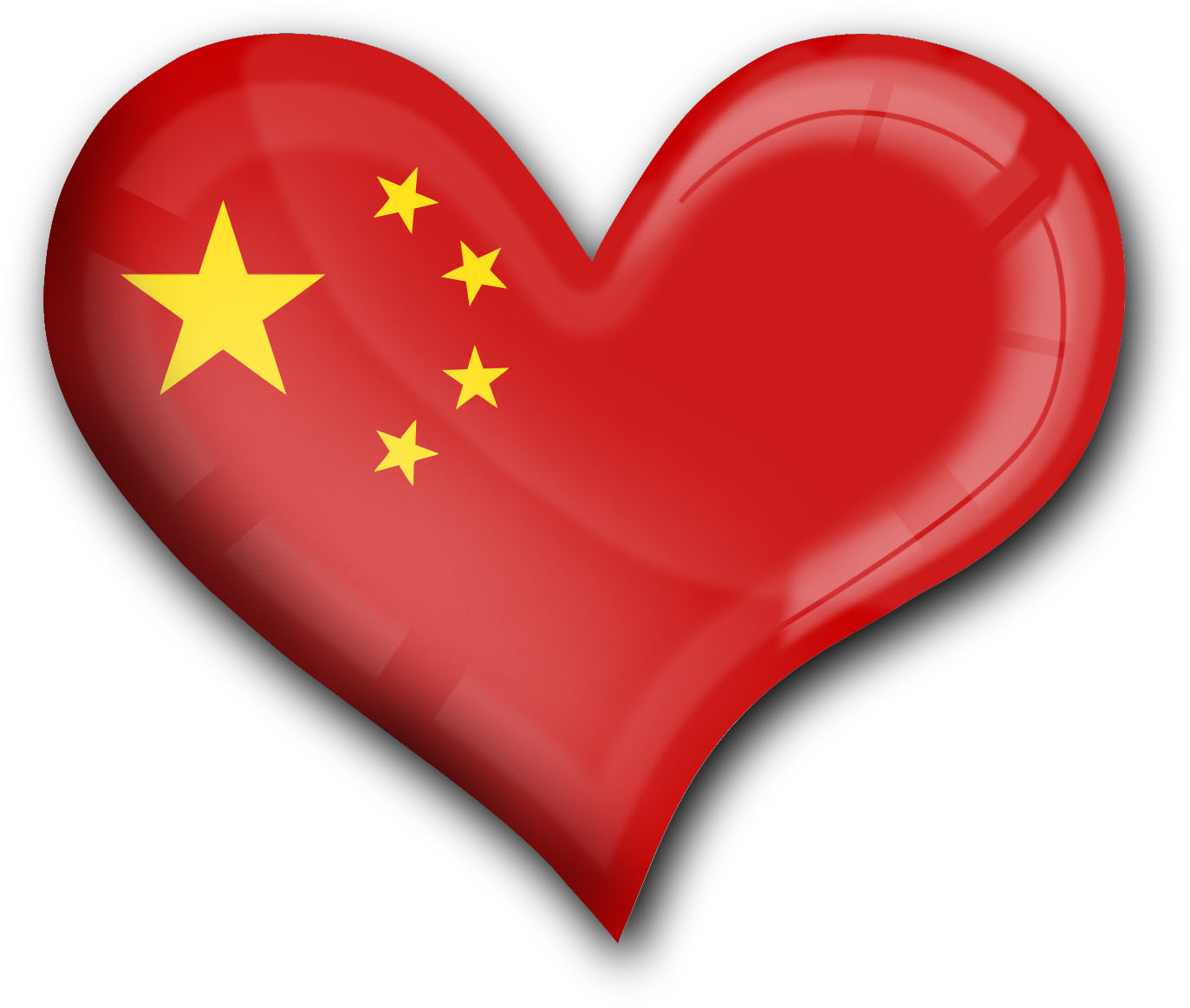 """metALUm Premium Magnete eckig """"Flagge China"""""""