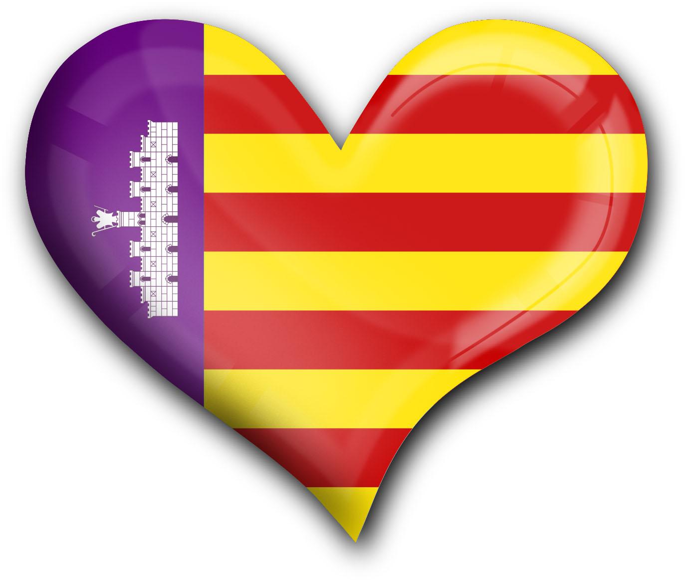 """metALUm Premium Magnete eckig """"Flagge Mallorca"""""""