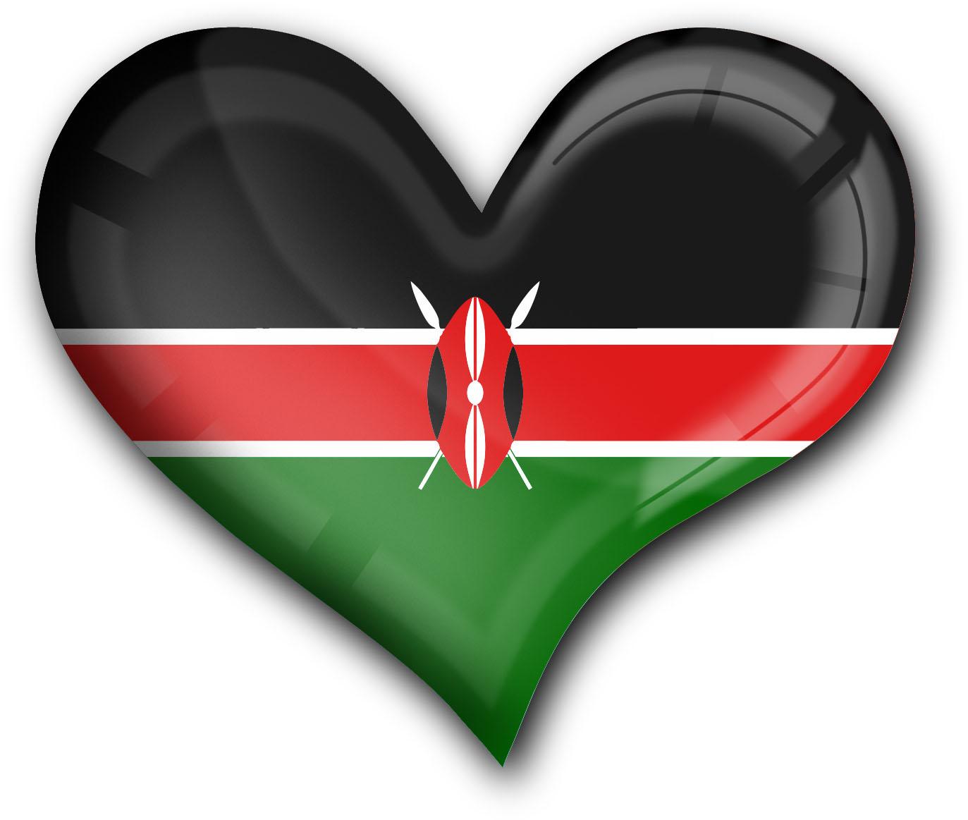 """metALUm Premium Magnete eckig """"Flagge Kenia"""""""
